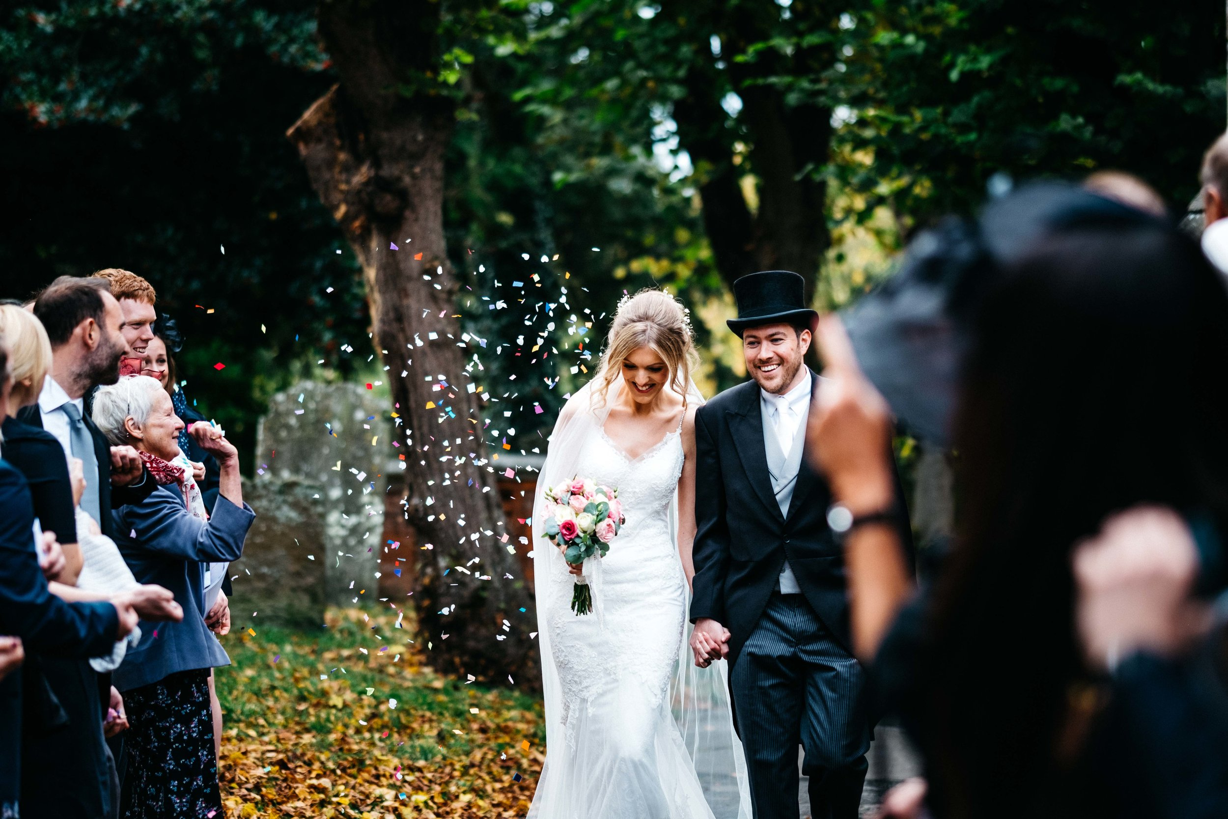 Confetti at the wedding