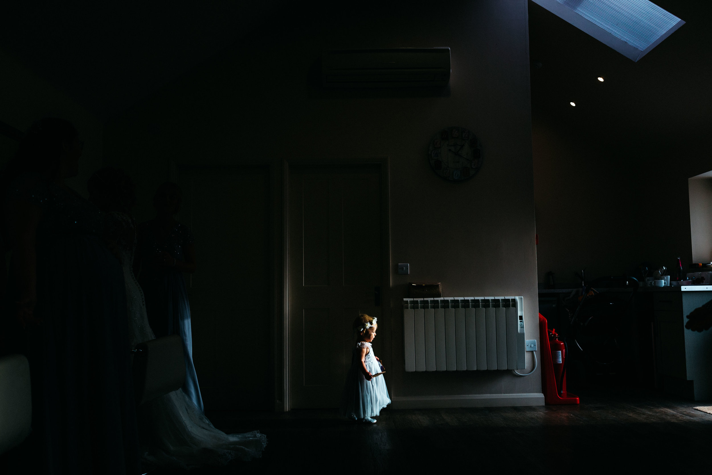 Flower girl at Winters Barns