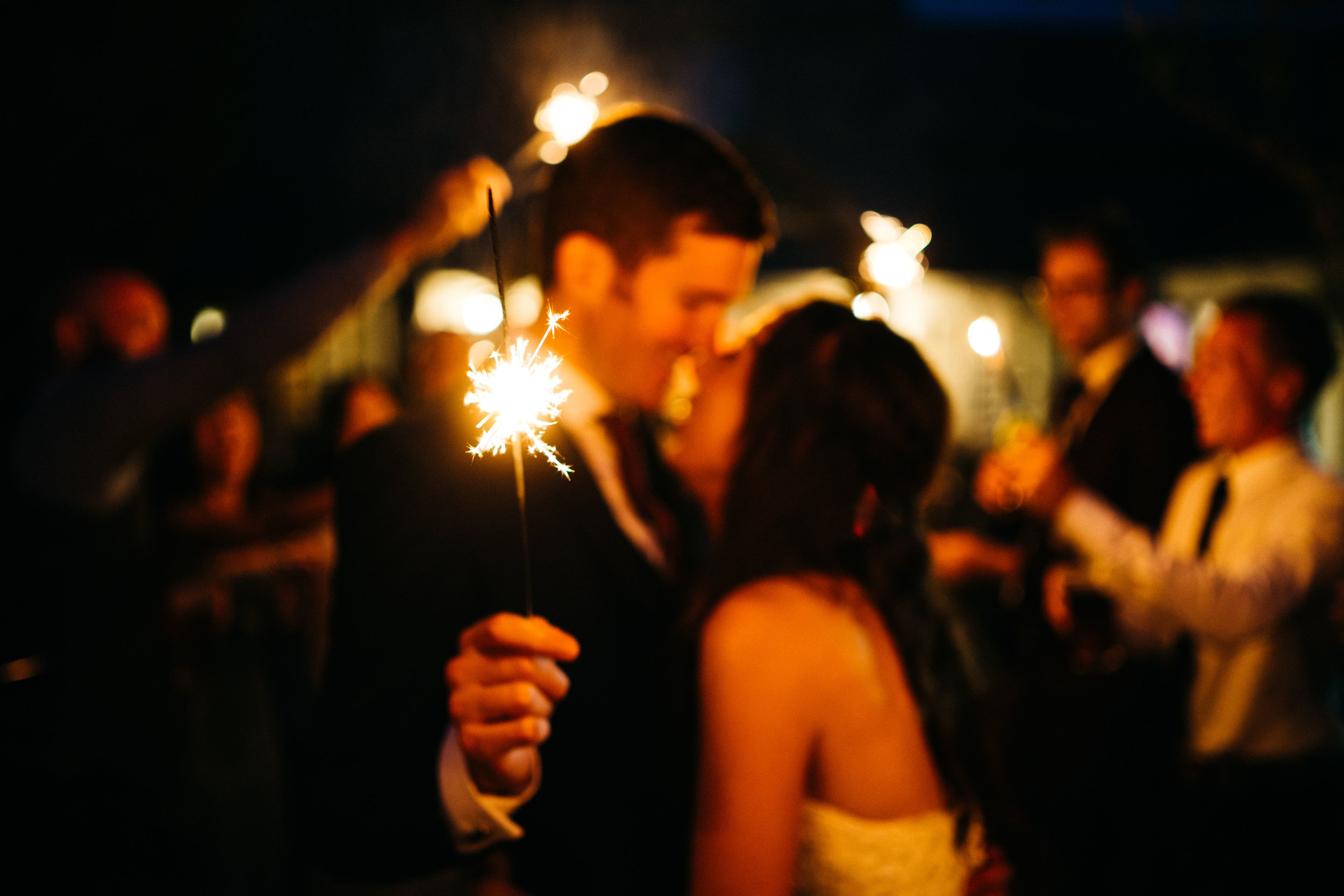 Wedding Sparklers at Blue Pigeons
