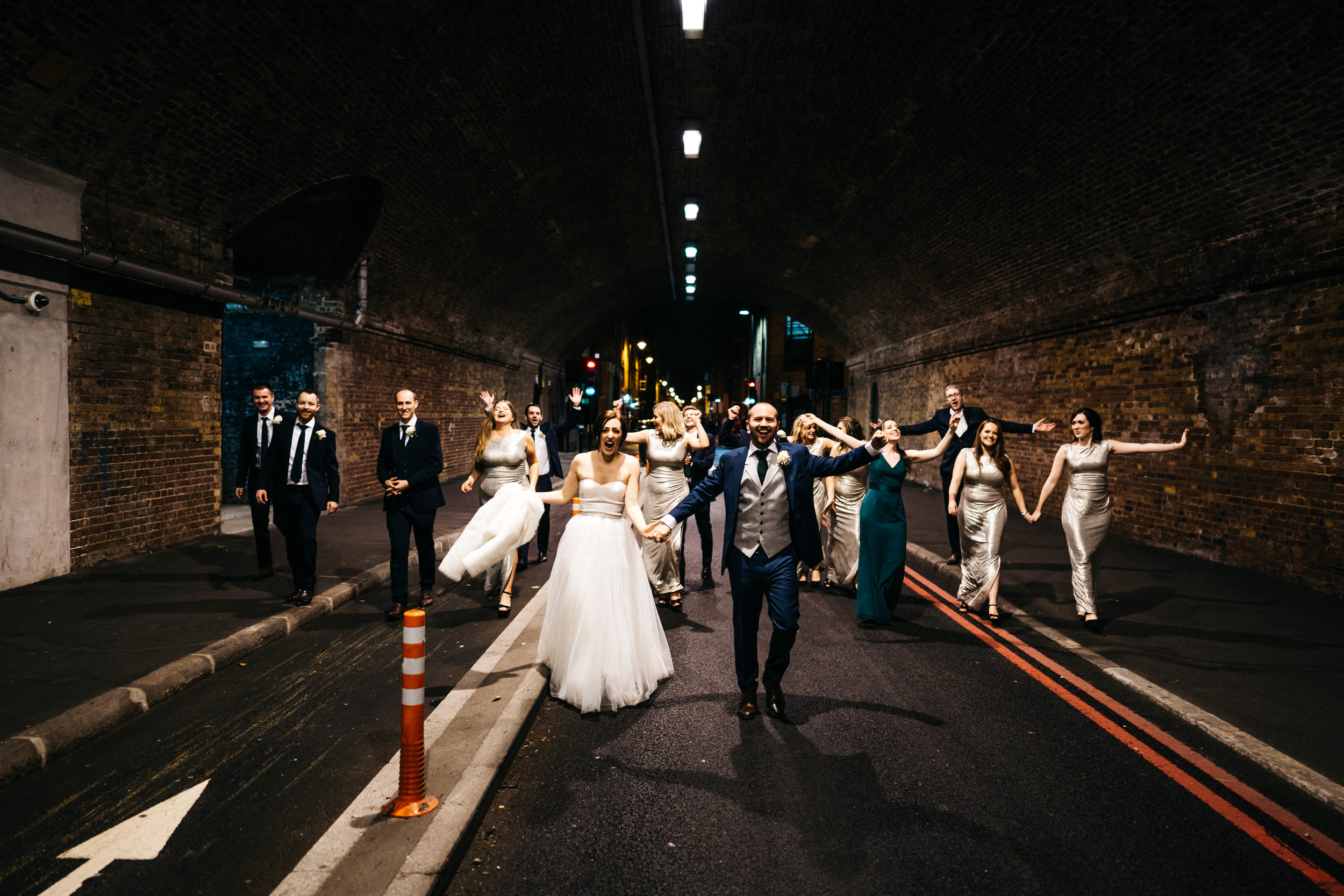 The Wedding Party at Tanners Warehouse
