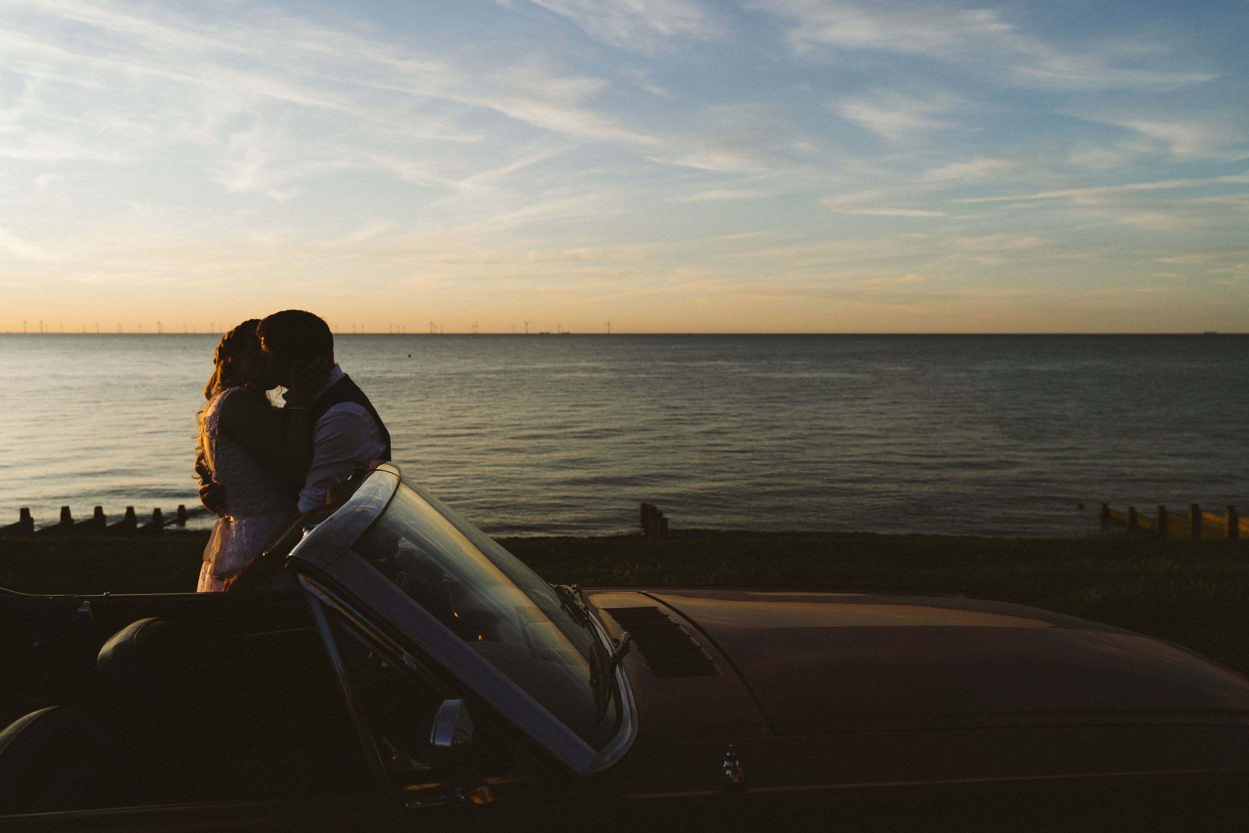 The wedding and a mustang