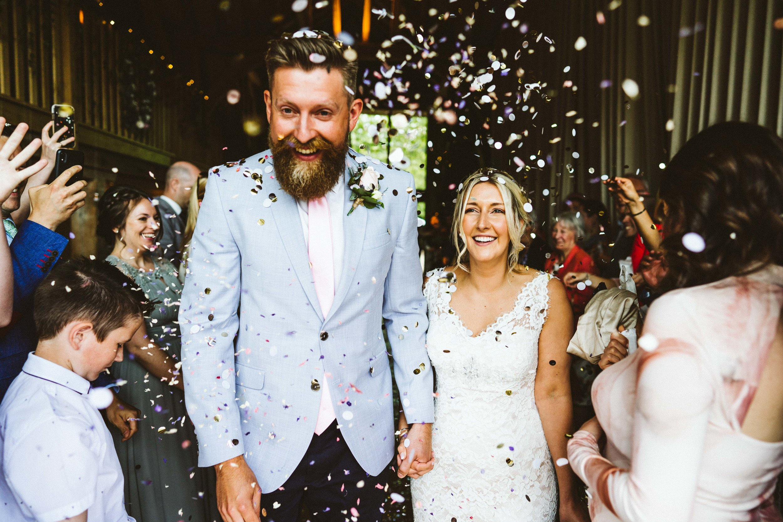 Awesome confetti at bury court barn