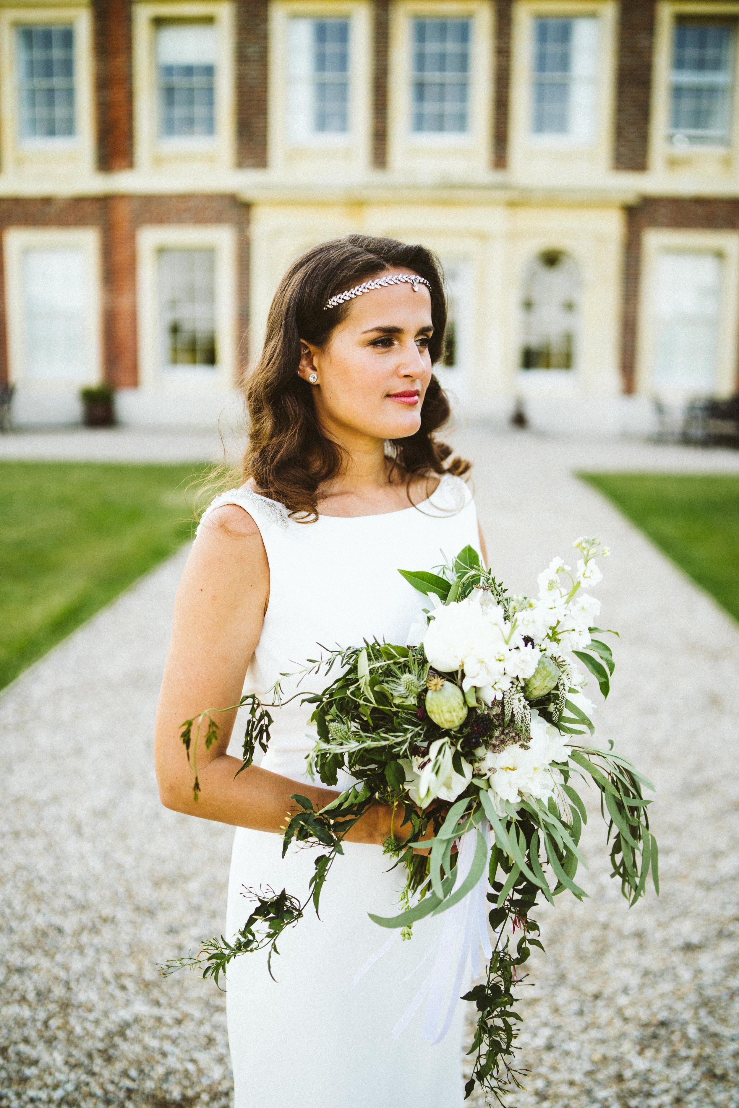 The bride at a kent wedding