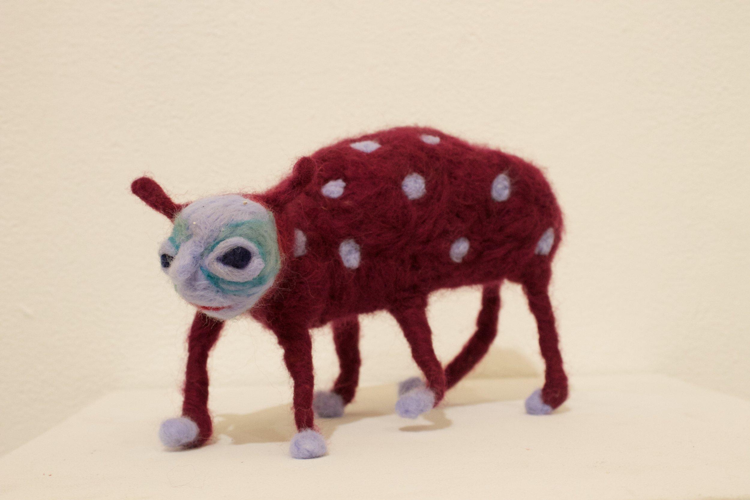 SIx Legged Susie (2019)  Wool roving, wire, polyfil