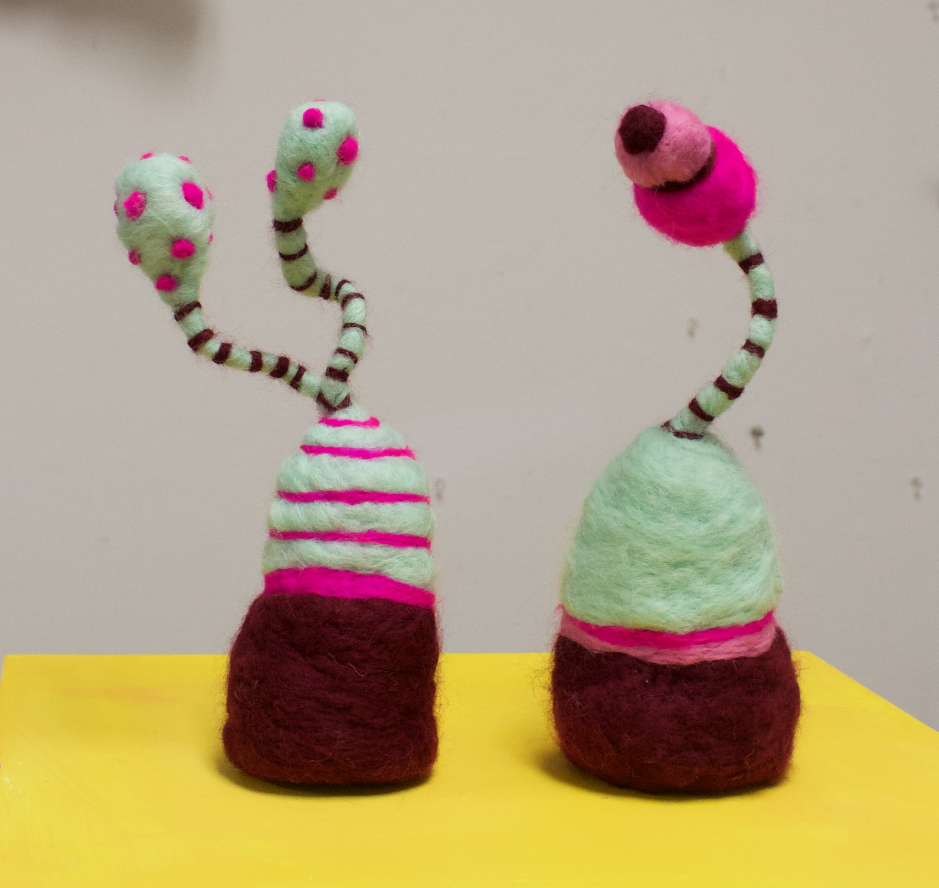 Experimental Plants in Neon Pink (2019)  Wool roving, wire, polyfil
