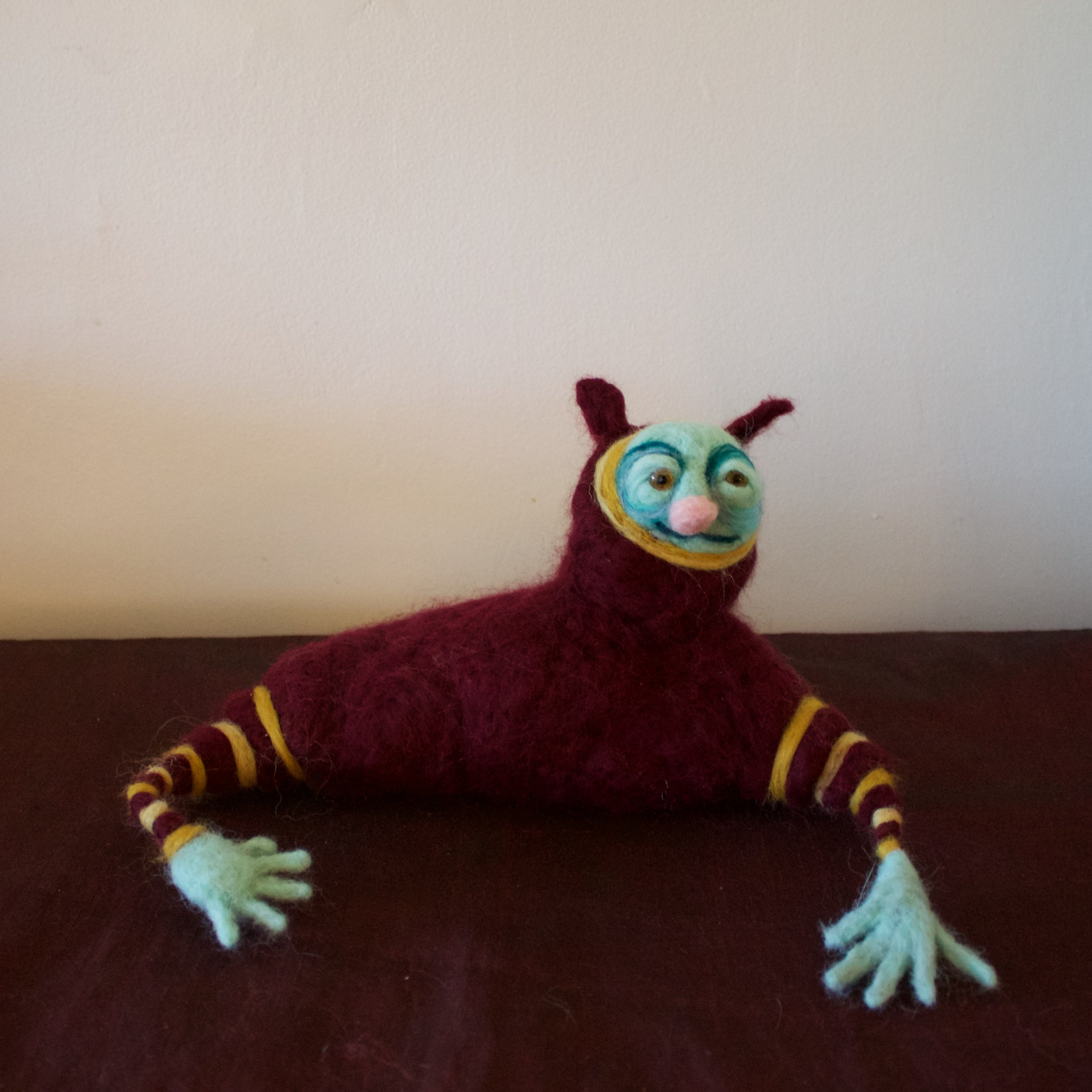 Kind Beast With Two Hands  Wool roving, wire, polyfil