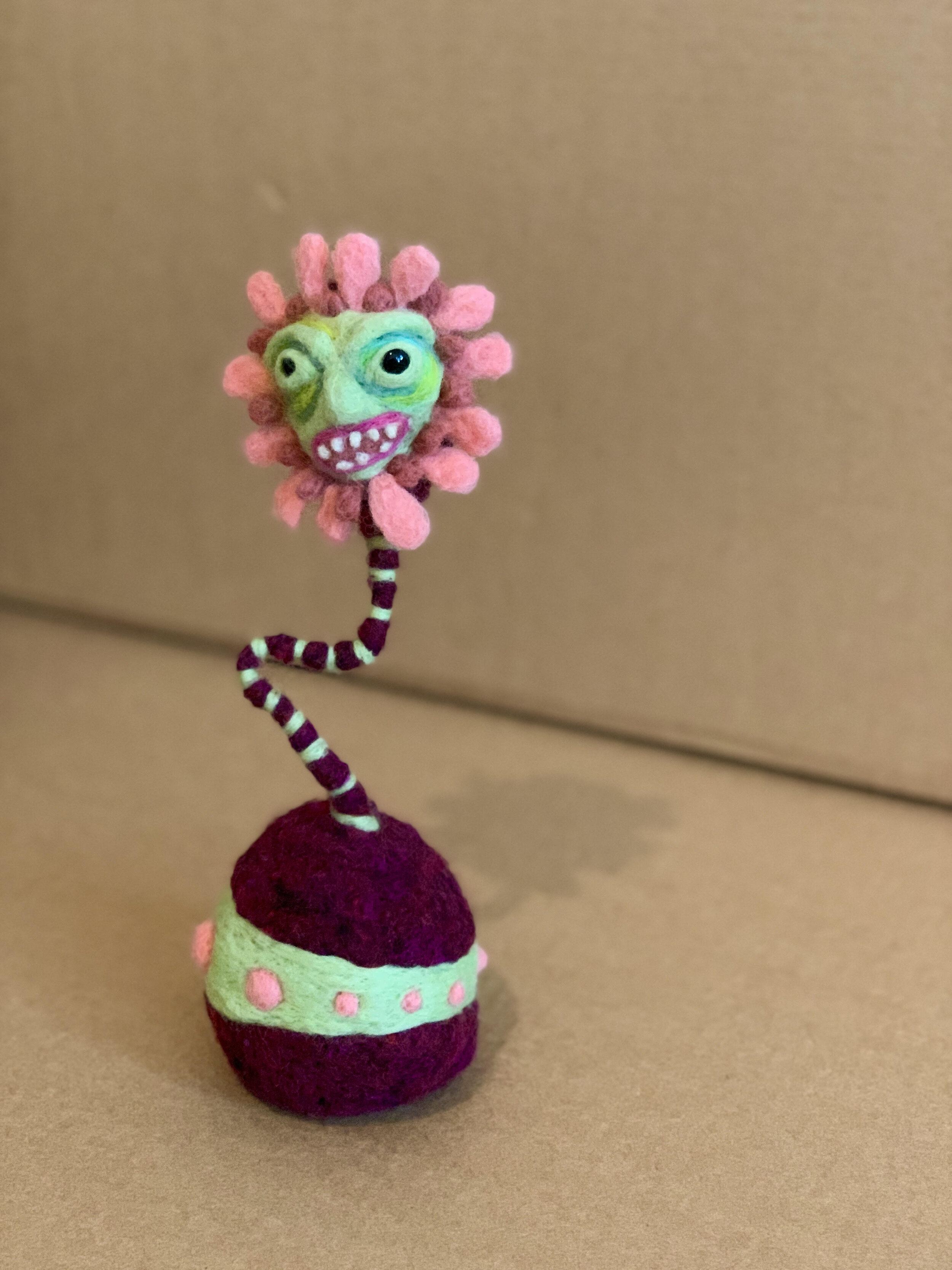 Flower With A Grimace - 11 in tall and 4 inches in diameter at base$85