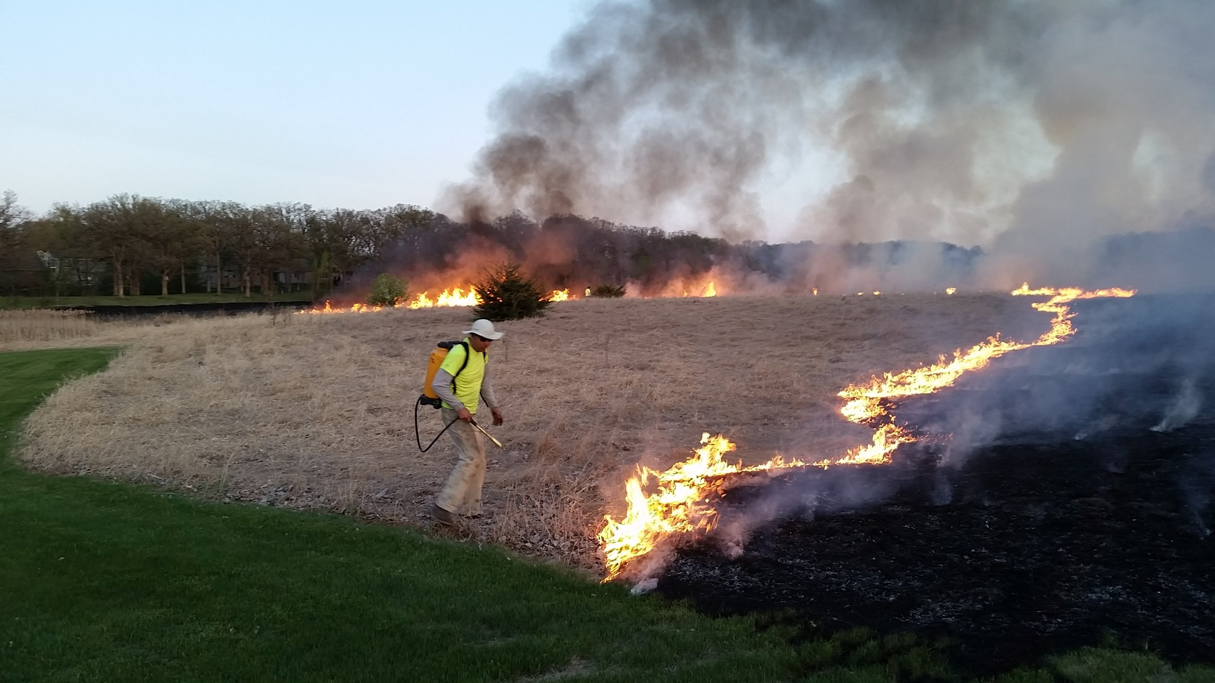 Me overseeing a burn at Kleinfelter Park, St. Joseph.