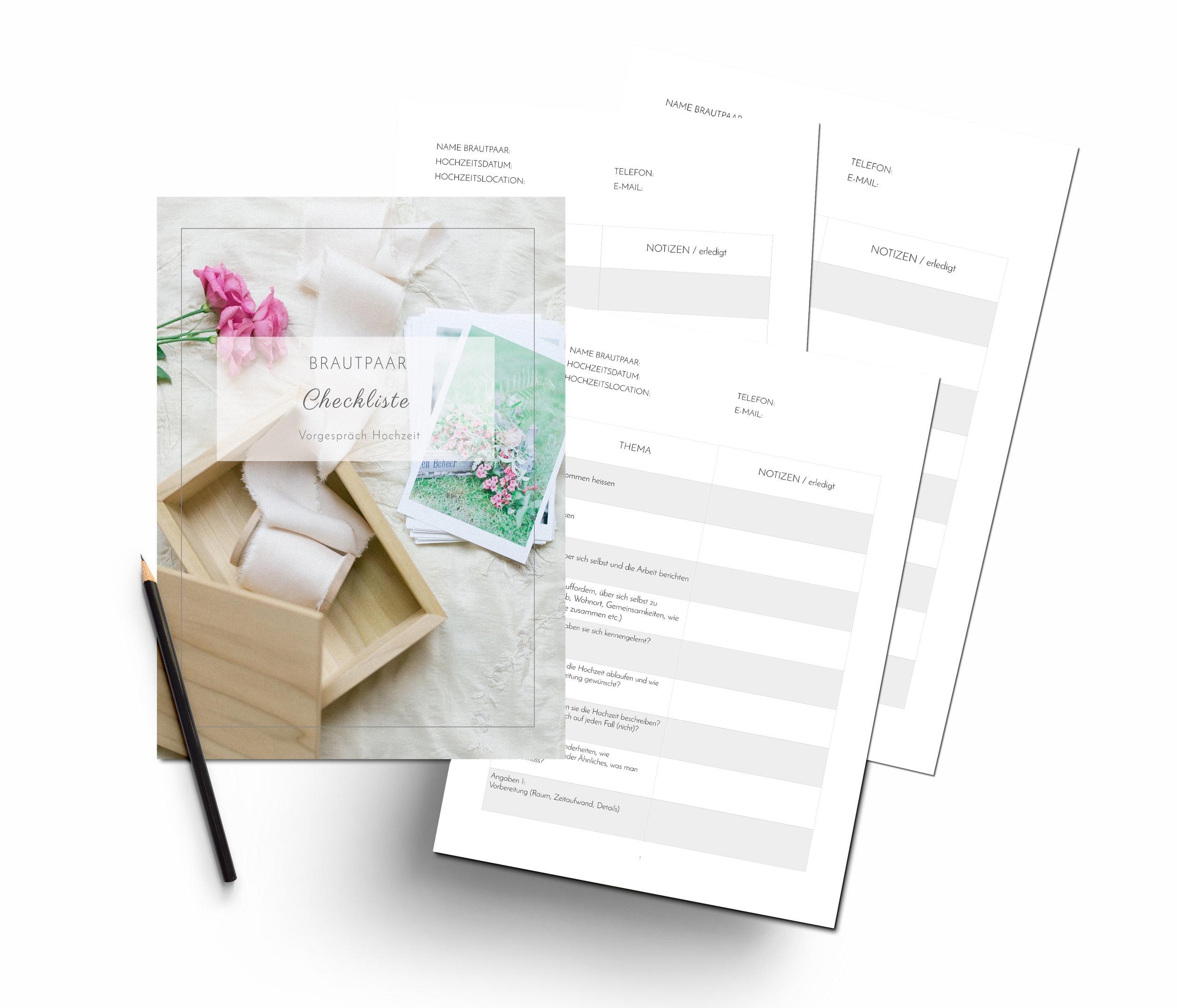 Brautpaar Checkliste - Download hier