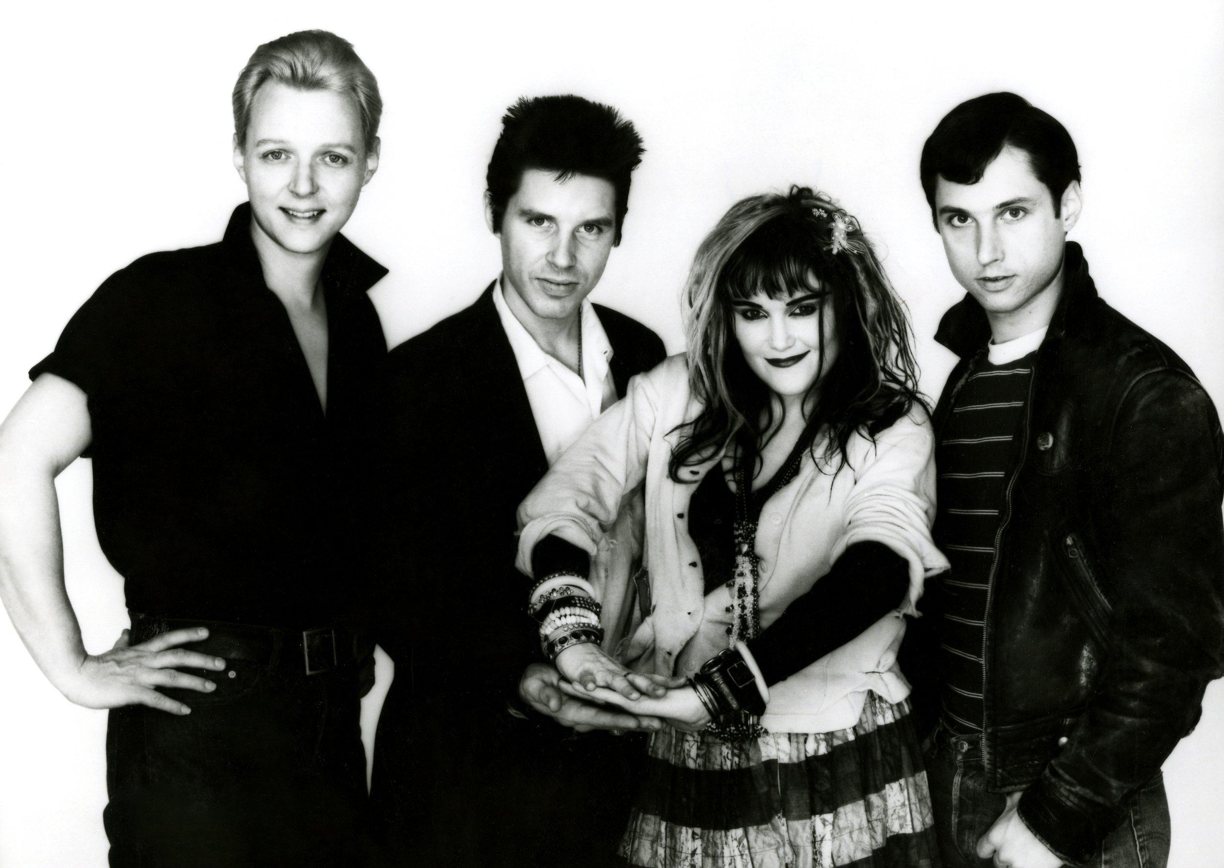 X | From left: Billy Zoom, John Doe, Exene Cervenka, D.J. Bonebrake | Photo credit to Frank Gargani