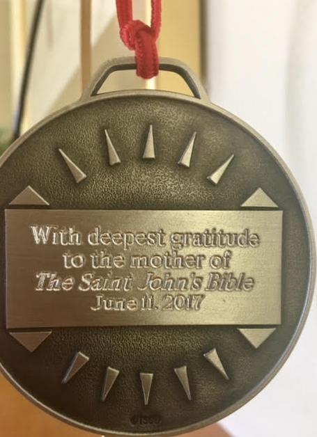 back of medal inscription
