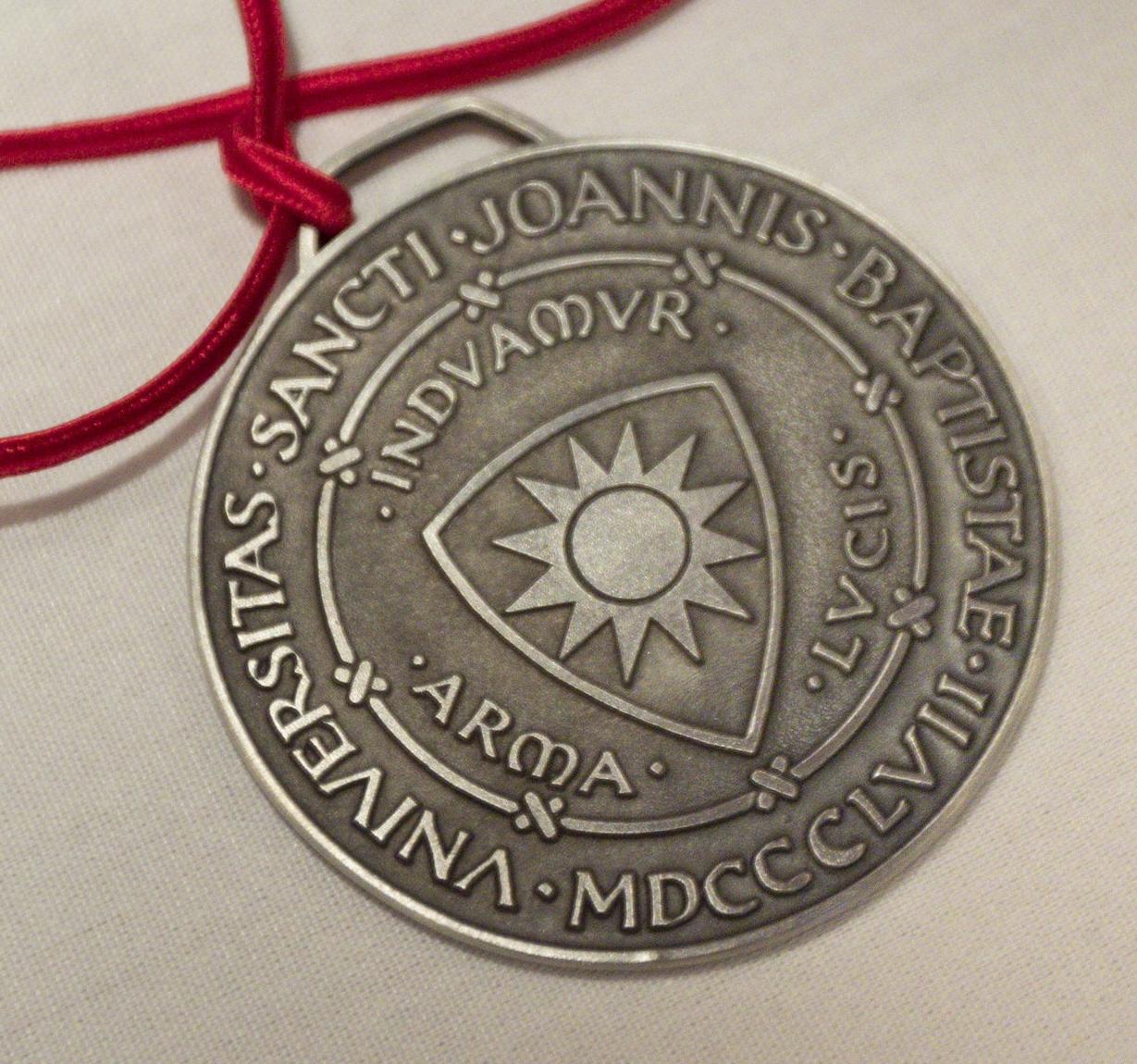 Saint John's University President's Medal presented to Jo White