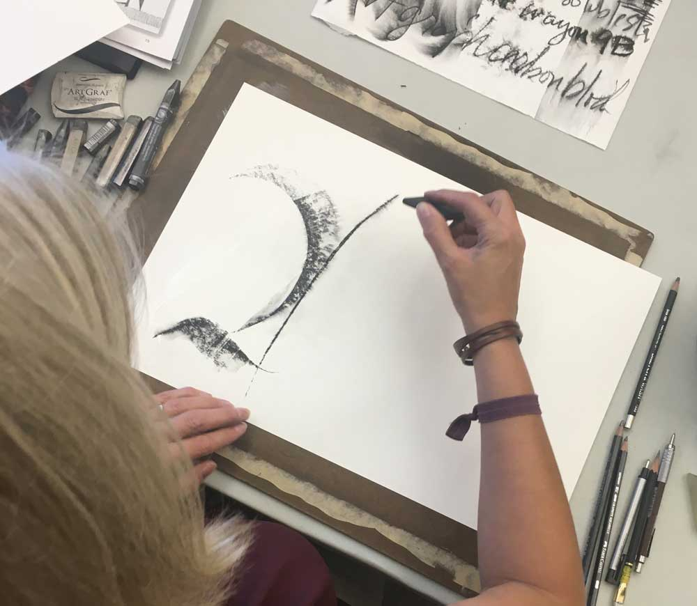 Amity demonstrates using the different edges of an ArtGraph block