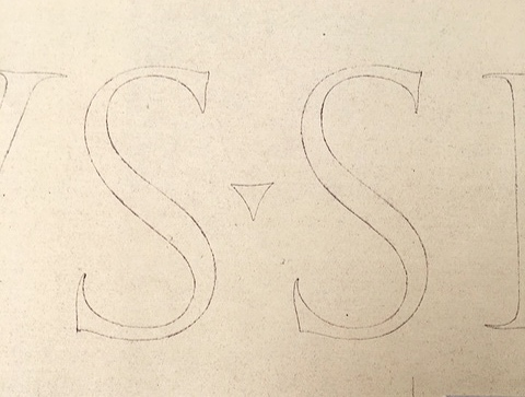 "Copy of Trajan tracing ""SS"""