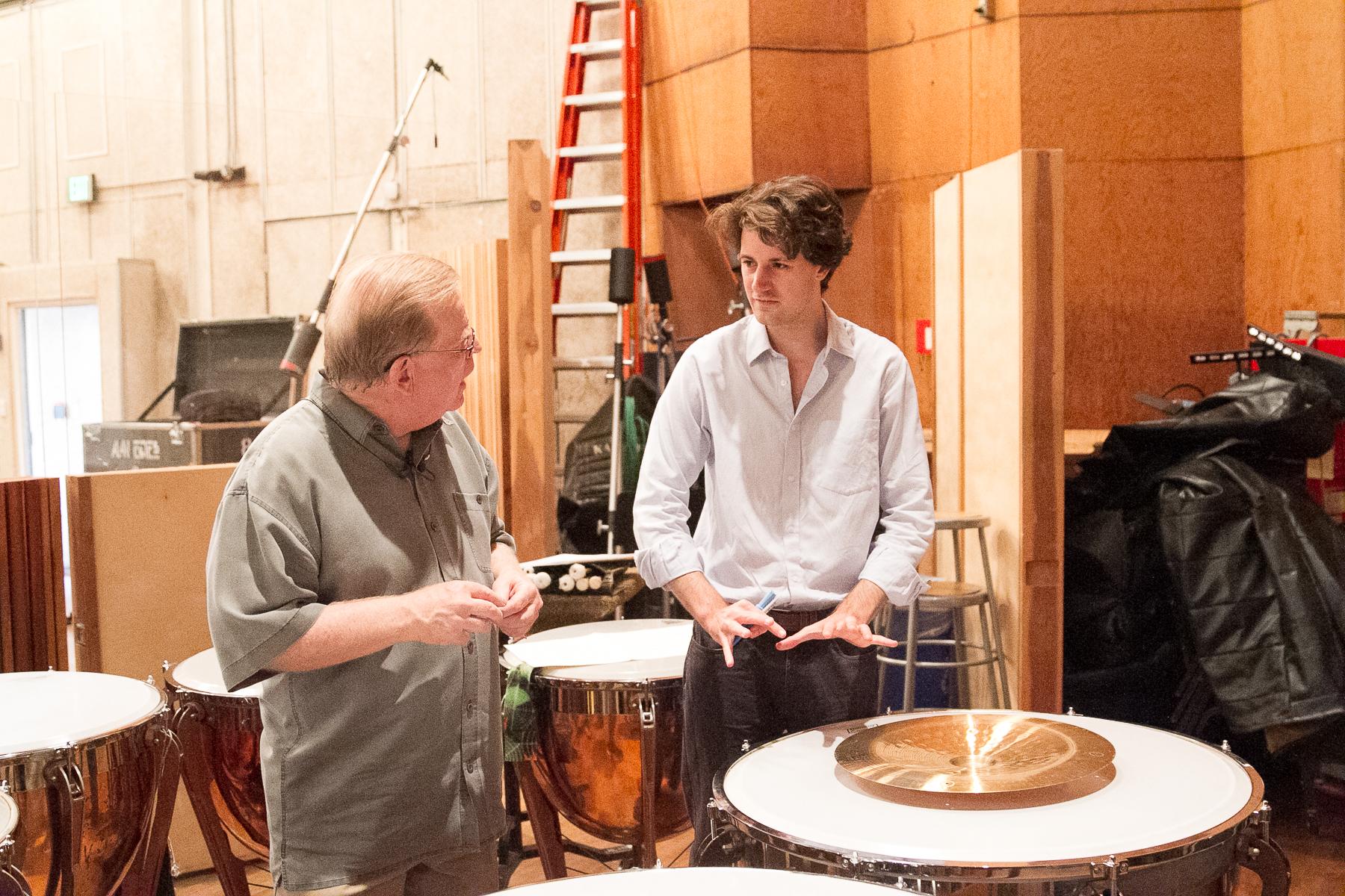 Benjamin Woodgates with Don Williams at Fox Studios, LA
