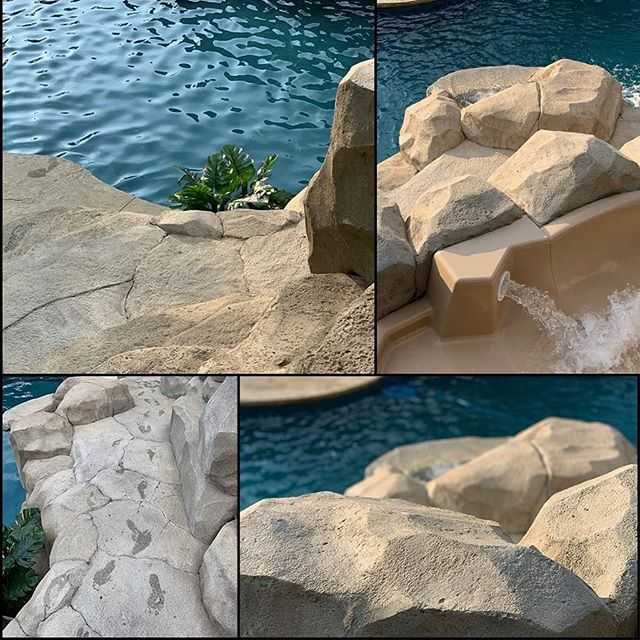 The Dream Team is making progress bringing this dream to life!  #dreambuilder #poolslide #poolsofinstagram #carvedstone #pghcreative #handcarved #waterfall #pittsburgh #washingtonpa