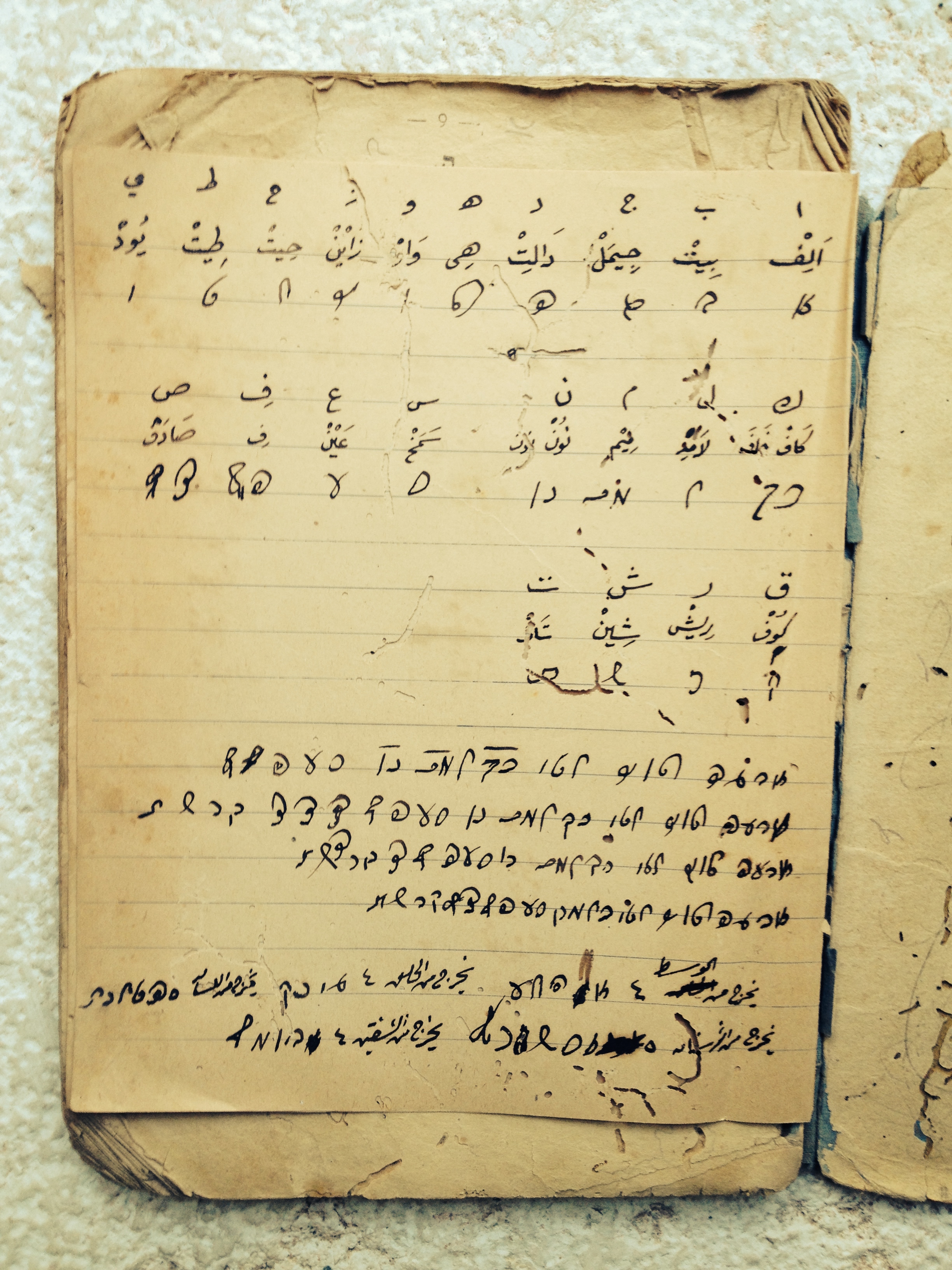 Page from a notebook in the Khalidi Library (Old City of Jerusalem). Credit: Zachary Foster.
