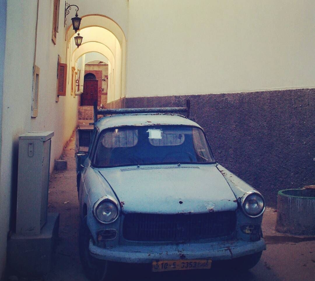 Blue Peugeot, Tripoli Old City, Libya, March 11, 2017. Mansour Alssager Photography.