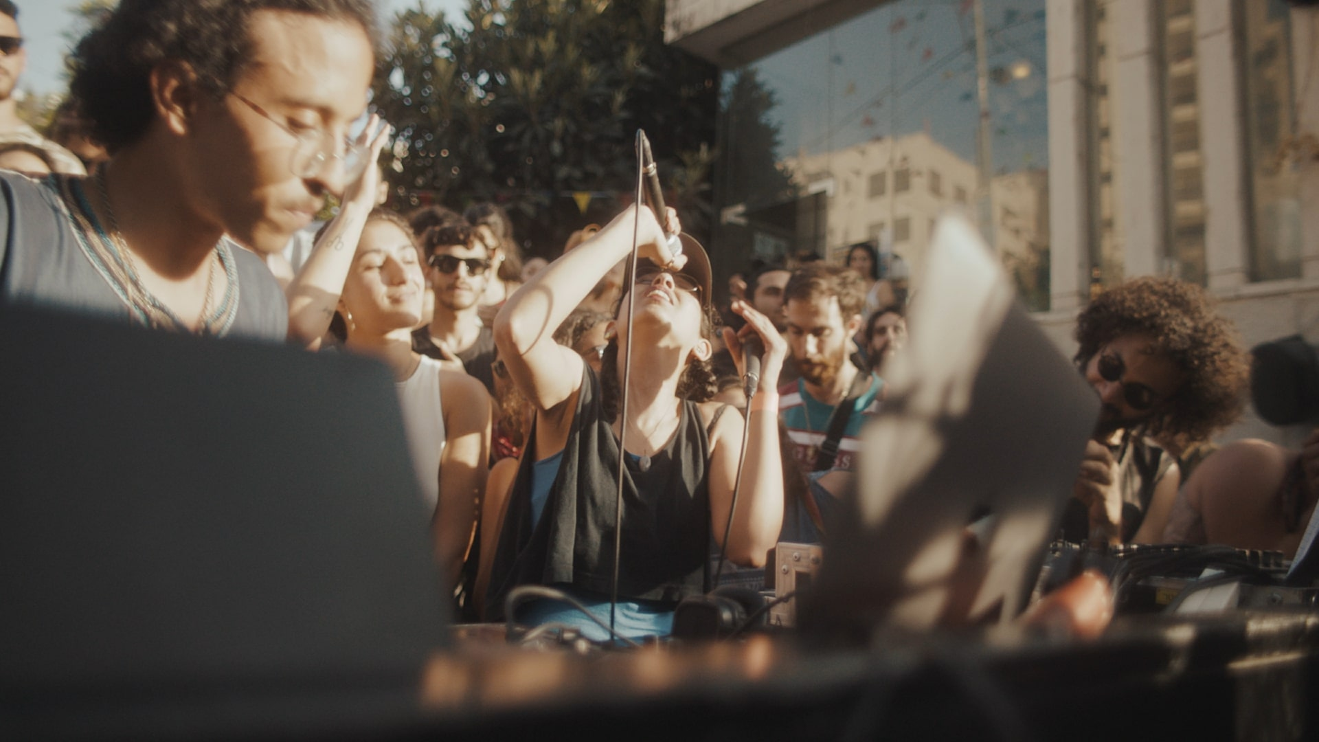 A still of Sama' from  Palestine Underground  at Boiler Room show in Ramallah. Credit to Boiler Room for all images.