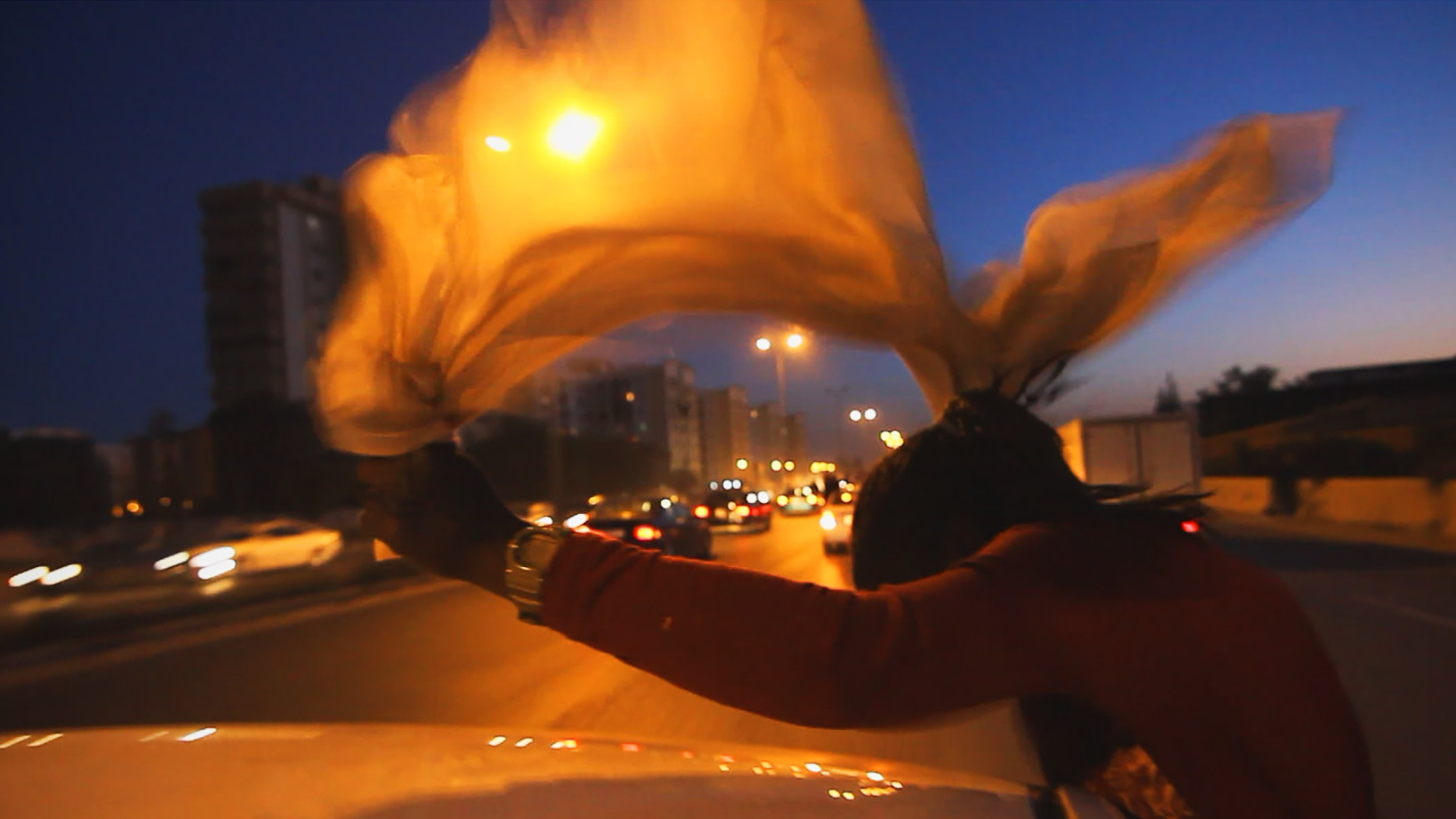 Image still from  Freedom Fields,  Naziha Arebi's documentary. Image courtesy of Arebi.