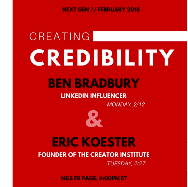 (Part 1) Creating Credibility: Via A Creation Event  with Eric Koester