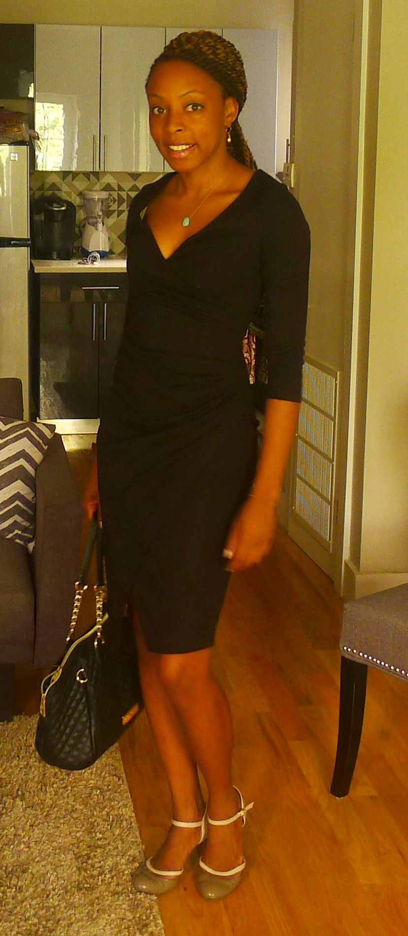 blck wrap dress