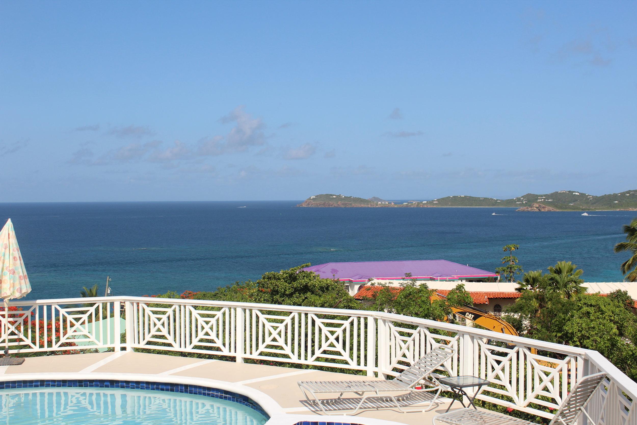 View by the pool at Villa Marabella