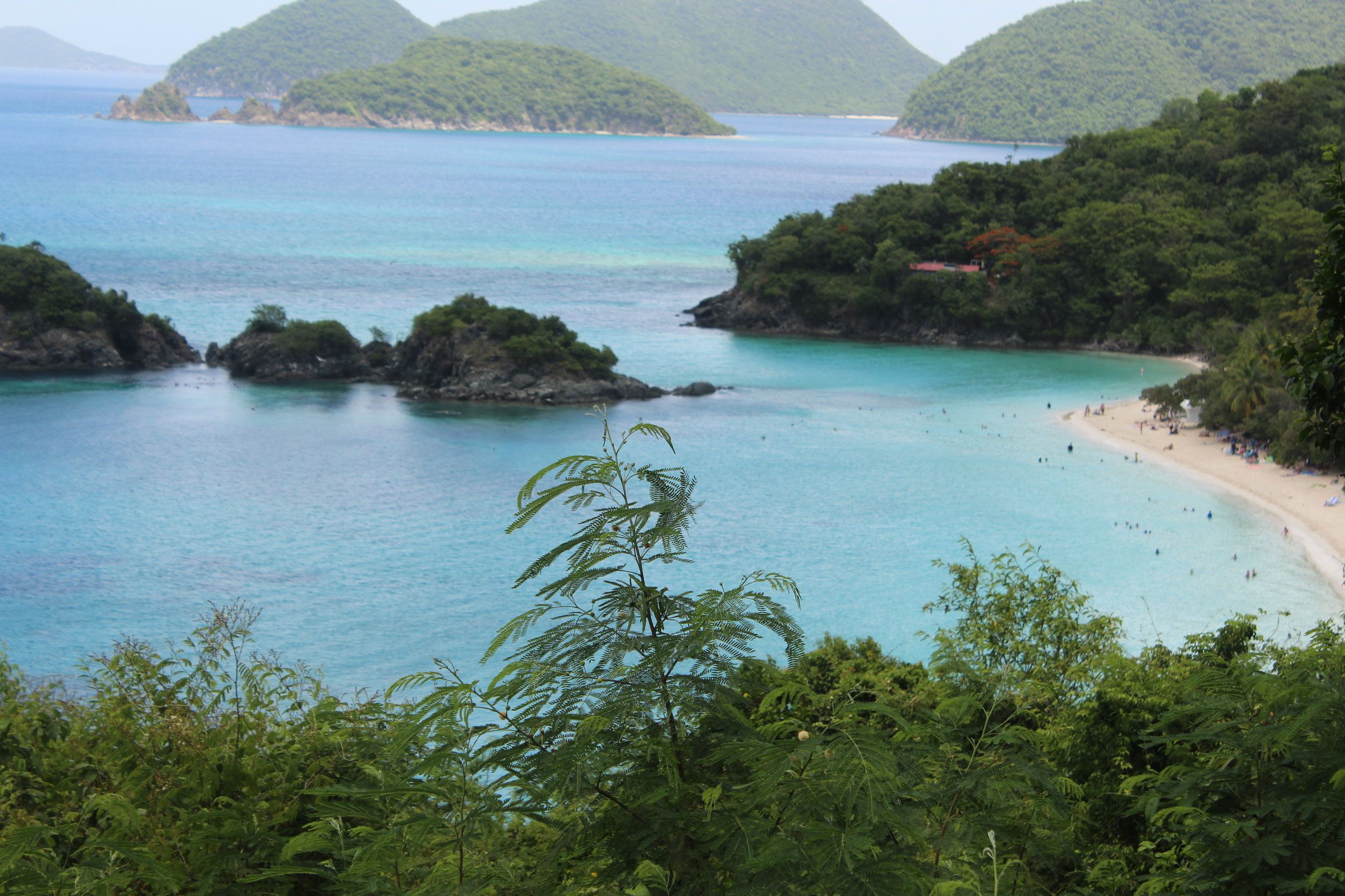 Beautiful view from our drive to Cinnamon Bay Beach