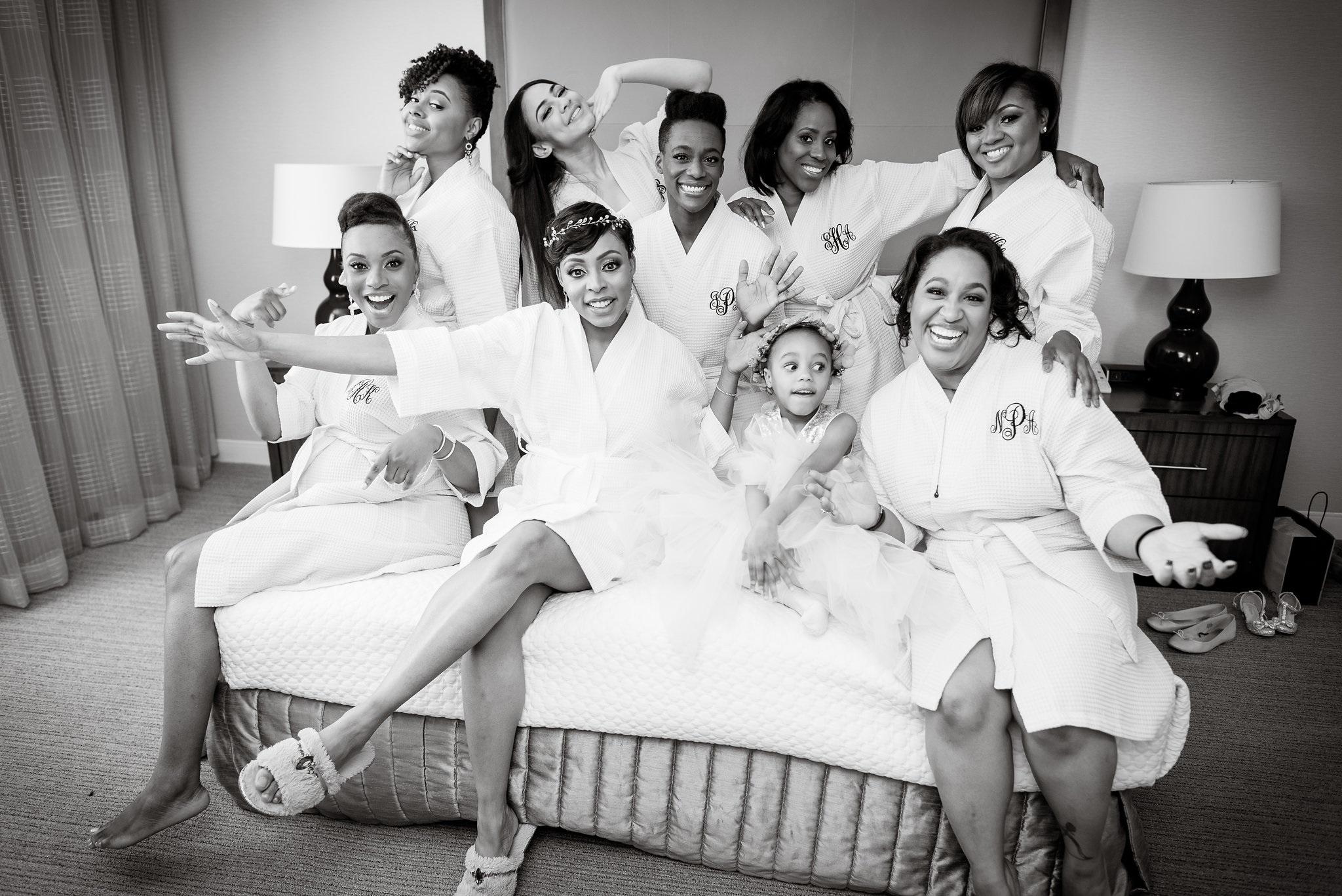 Bridesmaids and Bride robe black and white.jpg