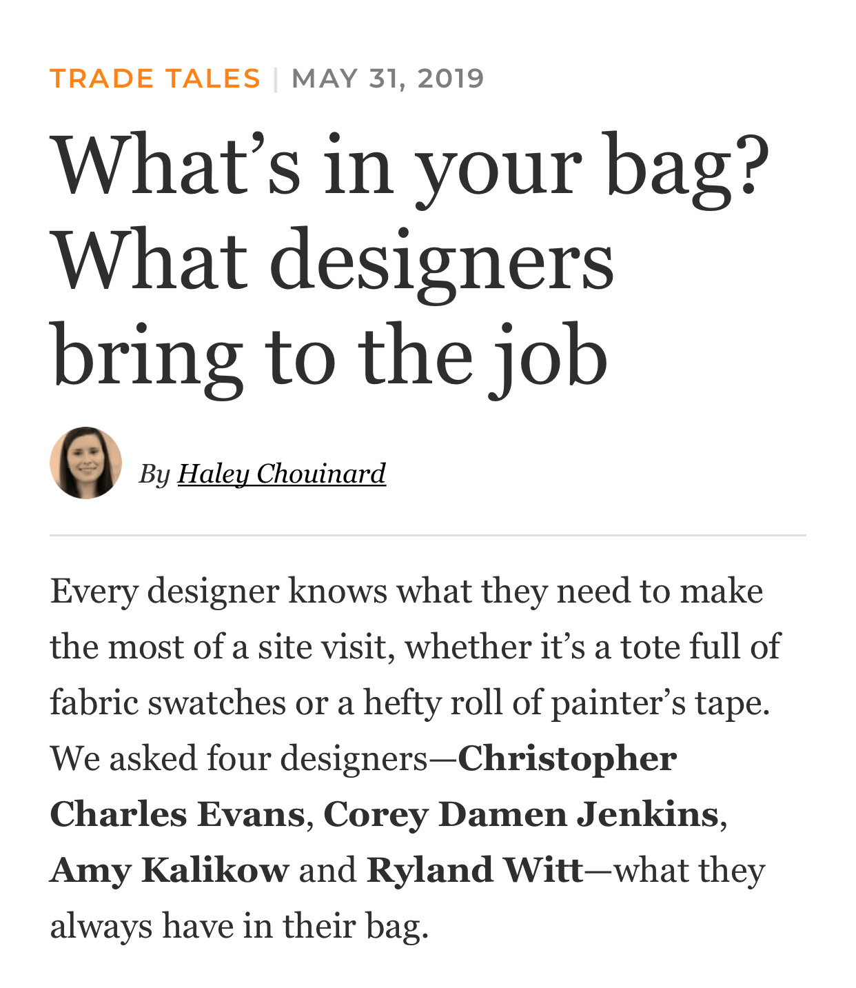 Featuring Amy Kalikow - Business of Home interviews designers Amy Kalikow, Corey Damen Jenkins, Charles Evans + Ryland Witt 5.19