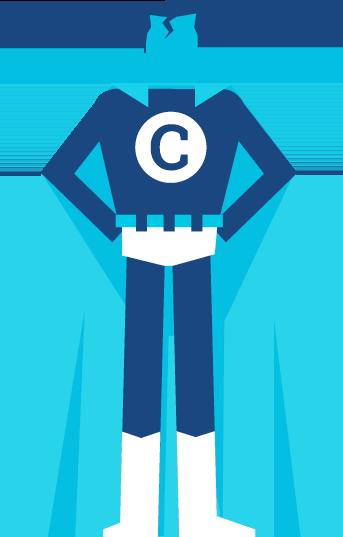 Illustration Superman mit Umhang, Competence für additiv pr von den sons of ipanema, Grafik Agentur aus Köln.