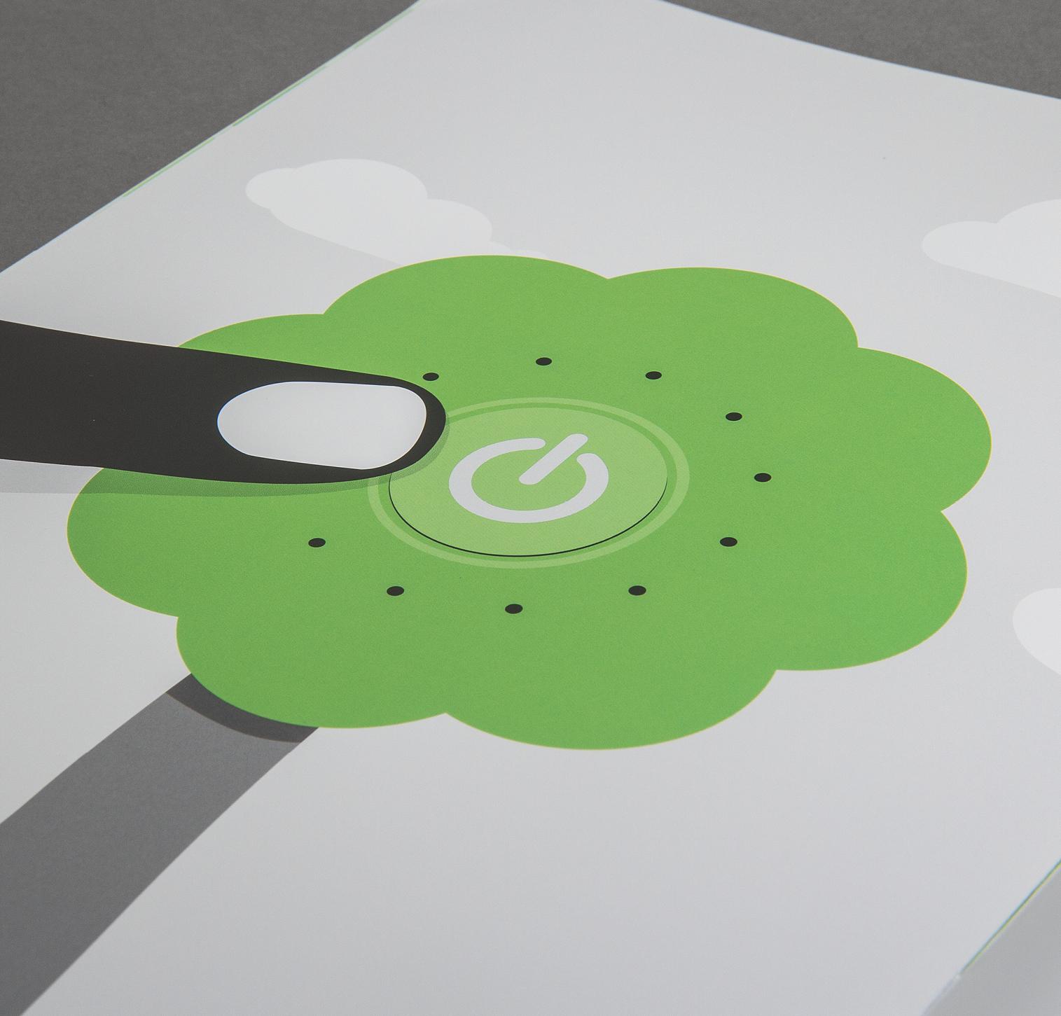 Illustration Finger und Button für Lago4 von Comosoft. Gestaltung von den sons of ipanema aus Köln.