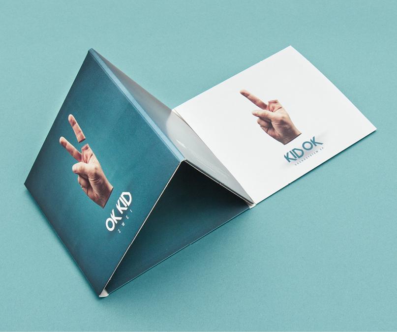 """Gestaltung eines Digi-Packs für OK KID anlässlich des neuen Albums """"Zwei"""""""