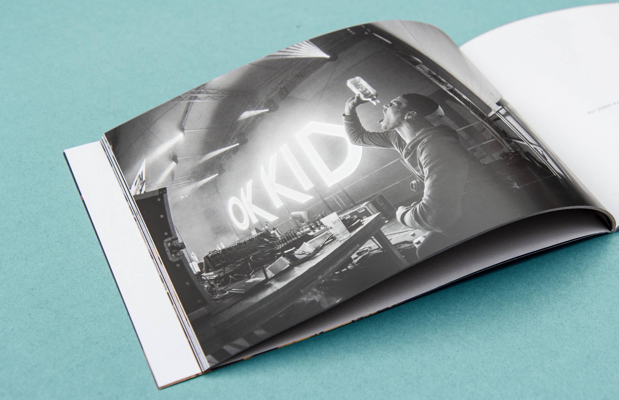 Die sons of ipanema aus Köln haben ein Tourbuch für OK KID gestaltet.