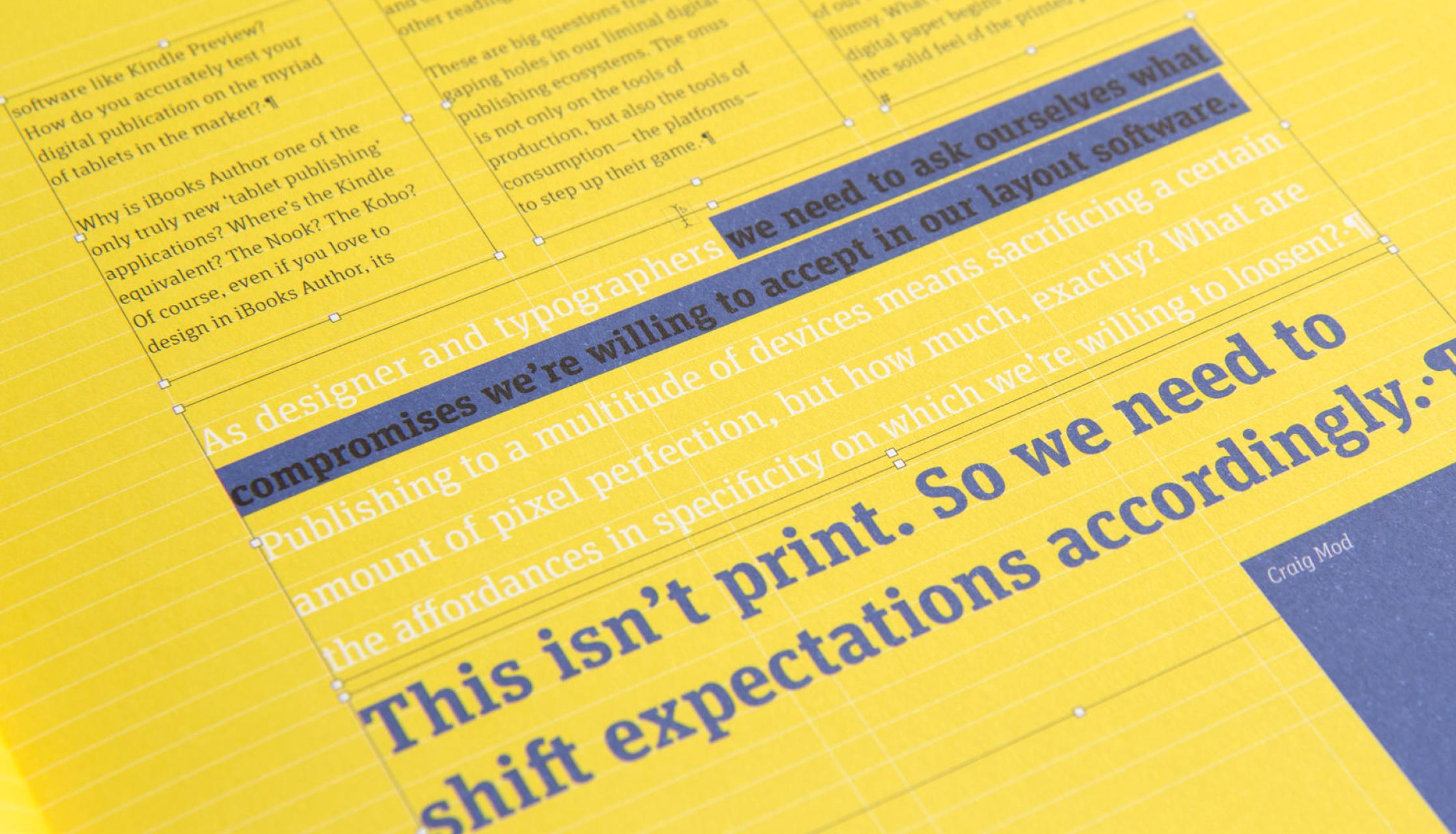 Typografische Details aus dem Magazin 8 Faces, welches von dem Studio für Kommunikationsdesign sons of ipanema in Köln gestaltet wurde.