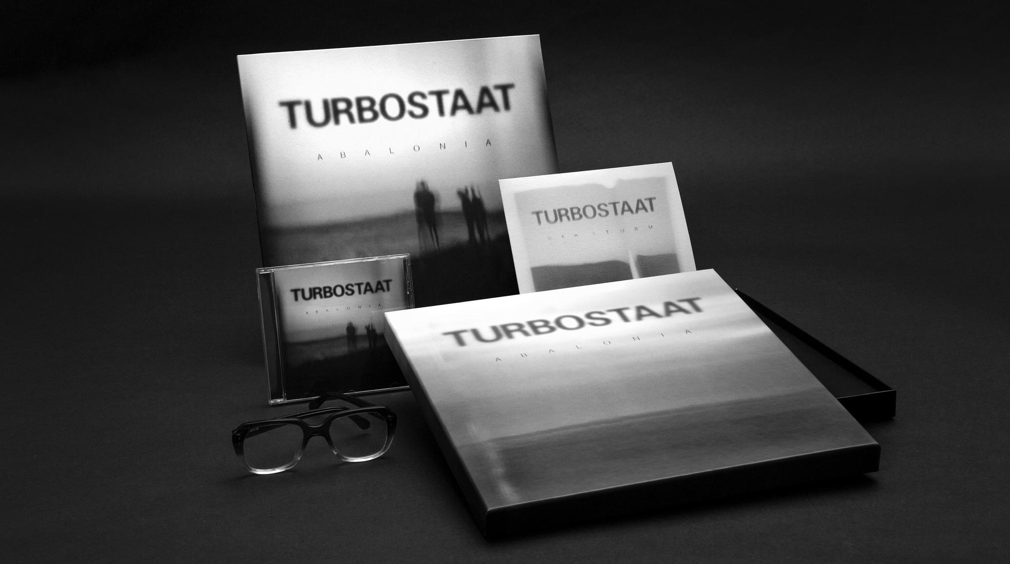 """komplette Gestaltung für das neue Turbostaat Album """"Abalonia"""" inkl. CD, Vinyl, Single und limitierter Special Edition"""