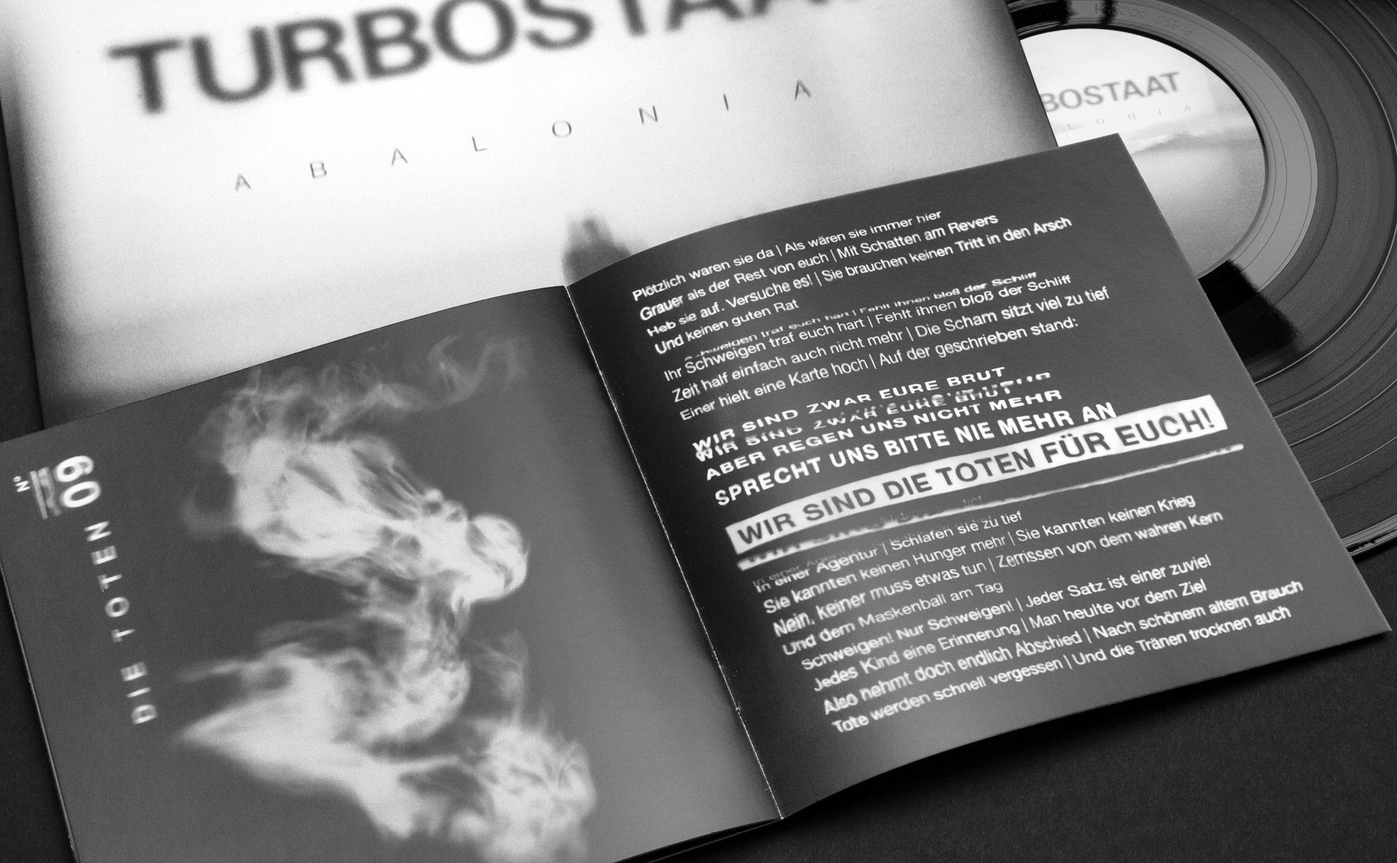 Booklet Design für Turbostaat
