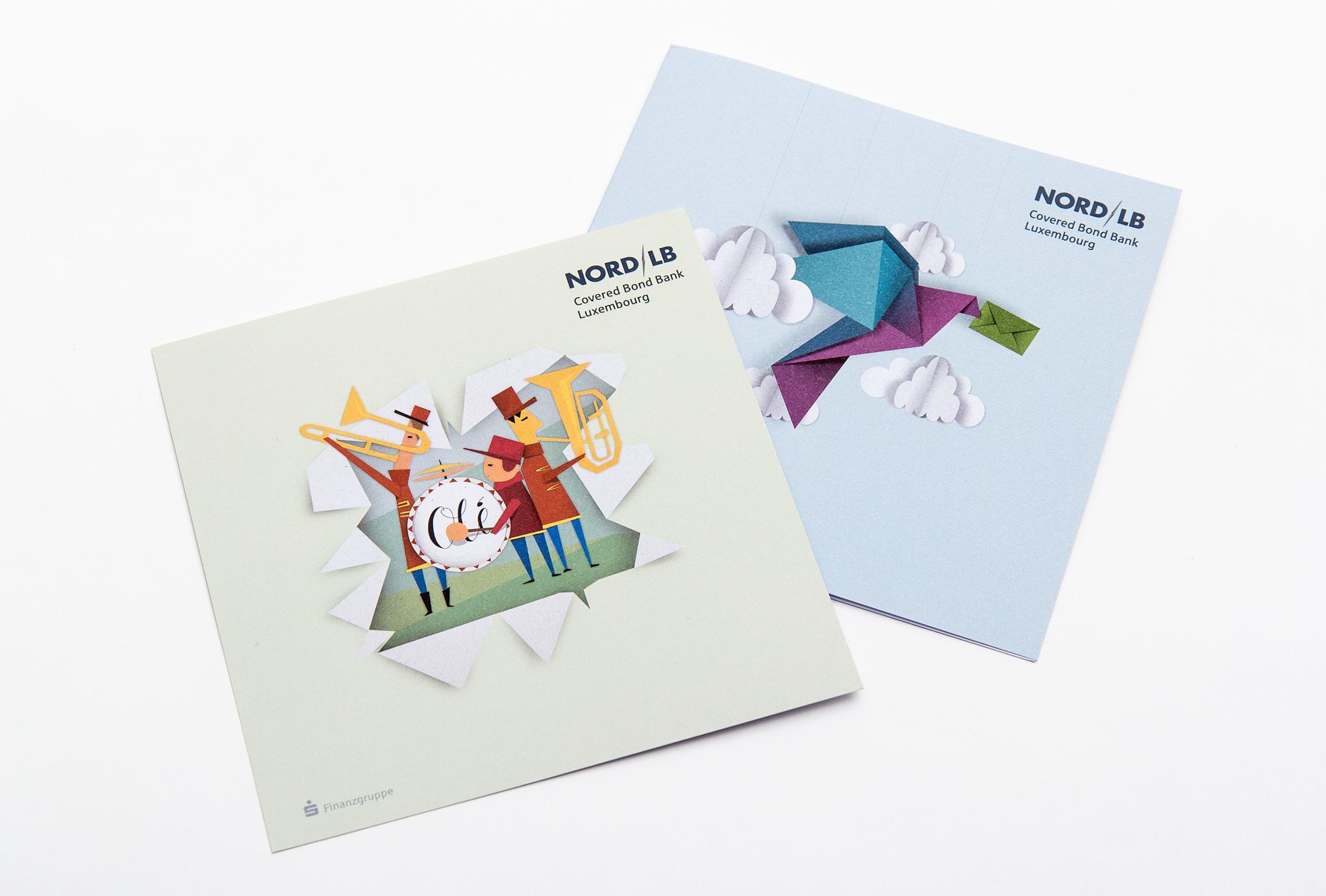 Illustrationen für die NORD/LB von den sons of ipanema, einer Werbeagentur aus Köln