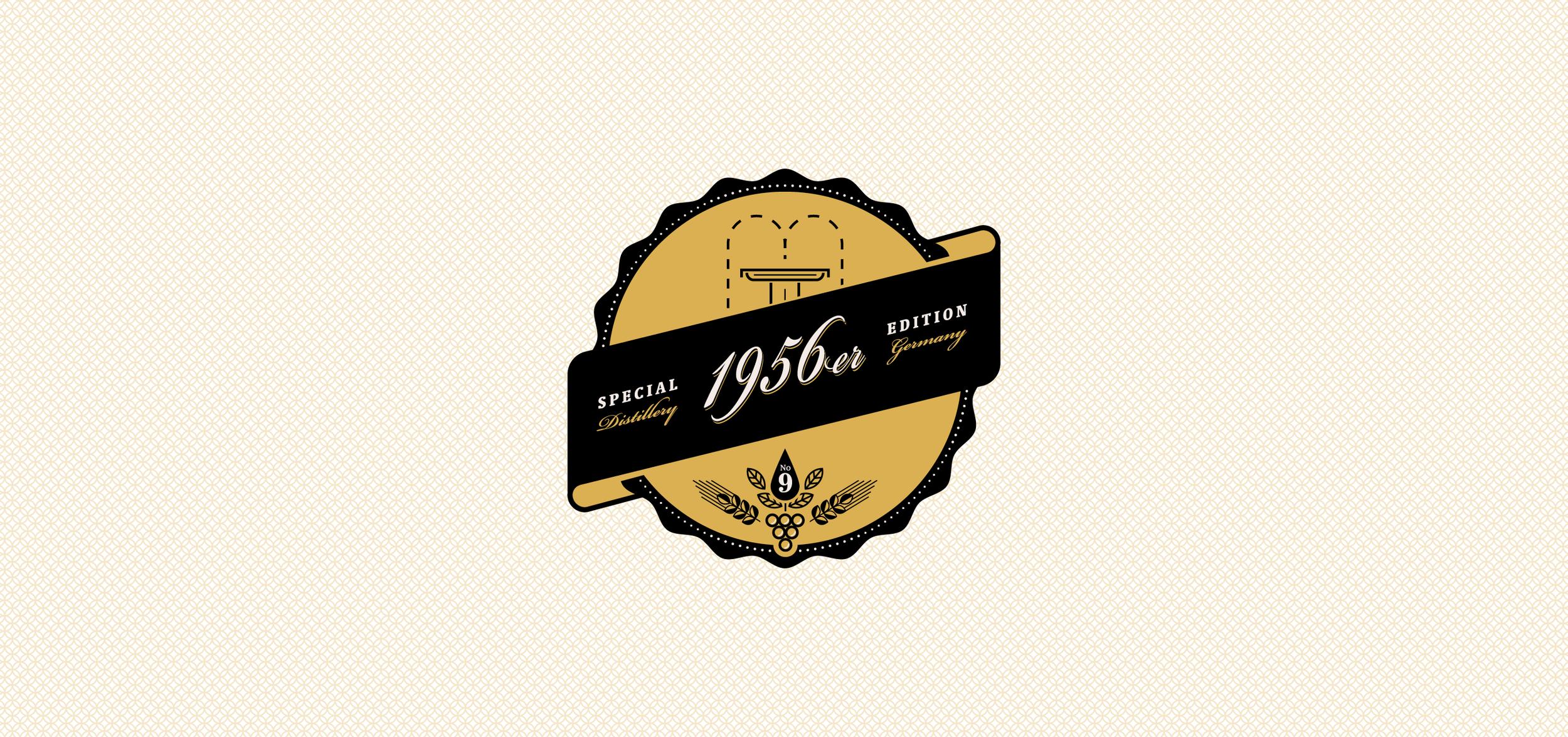 Entwicklung eines Logos für einen 1956er Single Malt Whisky aus dem Hause No. 9 The Nine Springs von den sons of ipanema, einer Grafikdesign Agentur aus Köln