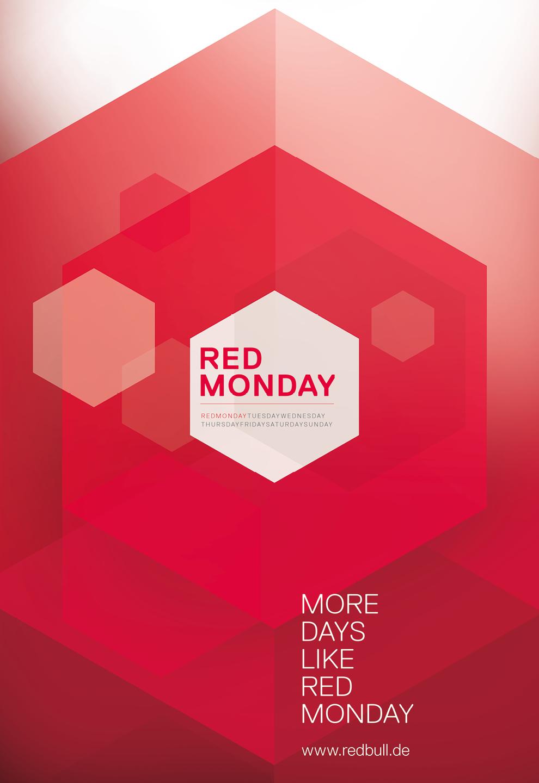 Motion Design, Animation von dem Kreativbüro sons of ipanema für das Gastro-Event Red Monday von Red Bull.