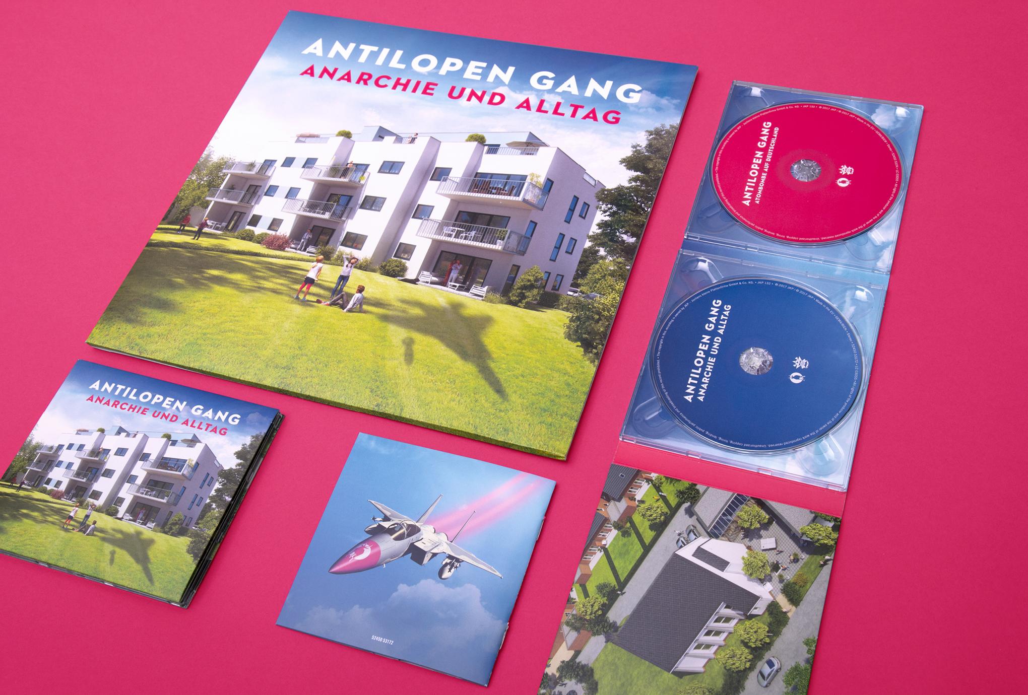 Artwork (Booklet, Cd-Cover, Vinyl) von den sons of ipanema aus Köln, für das Album Anarchie und Alltag von der Antilopen Gang.