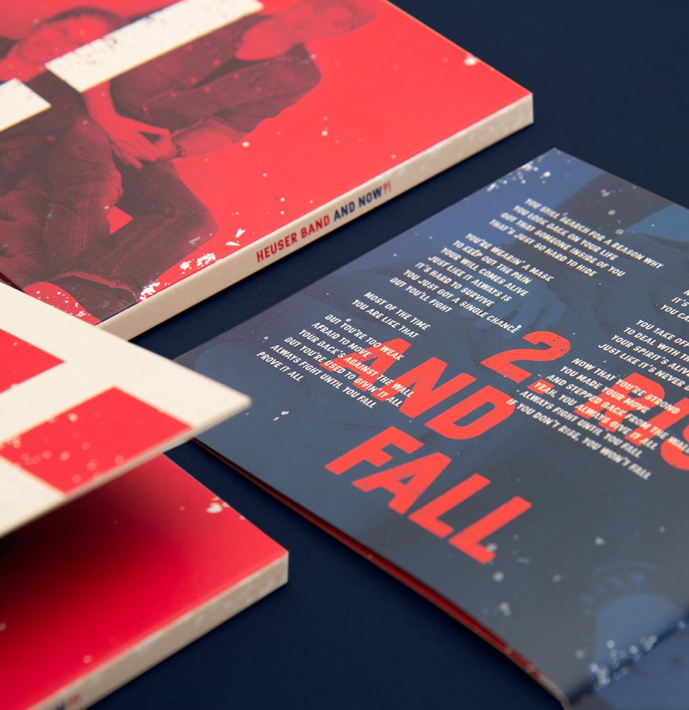 Innenseite des Album-Booklets