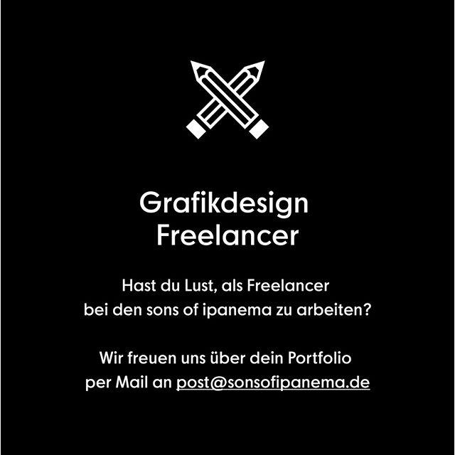 Wir brauchen Support und suchen Grafikdesign Freelancer!  Wenn du dich in den Bereichen Editorial, Corporate Design, Markenentwicklung, Web Design, Infografik, Verpackungsdesign oder Animation zu Hause fühlst, in Köln oder Umgebung wohnst und Lust hast, projektweise bei uns mitzuhelfen, freuen wir uns über deine Bewerbung an post@sonsofipanema.de  #arbeitenwoandereurlaubmachen #freelancer #grafikdesign #graphicdesign #wanted #sonsofipanema #cologne #köln #jobsjobsjobs