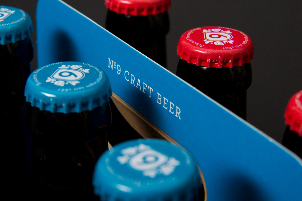 Flaschendetail der Whiskybier-Flaschen der Brauerei Neunspringe.