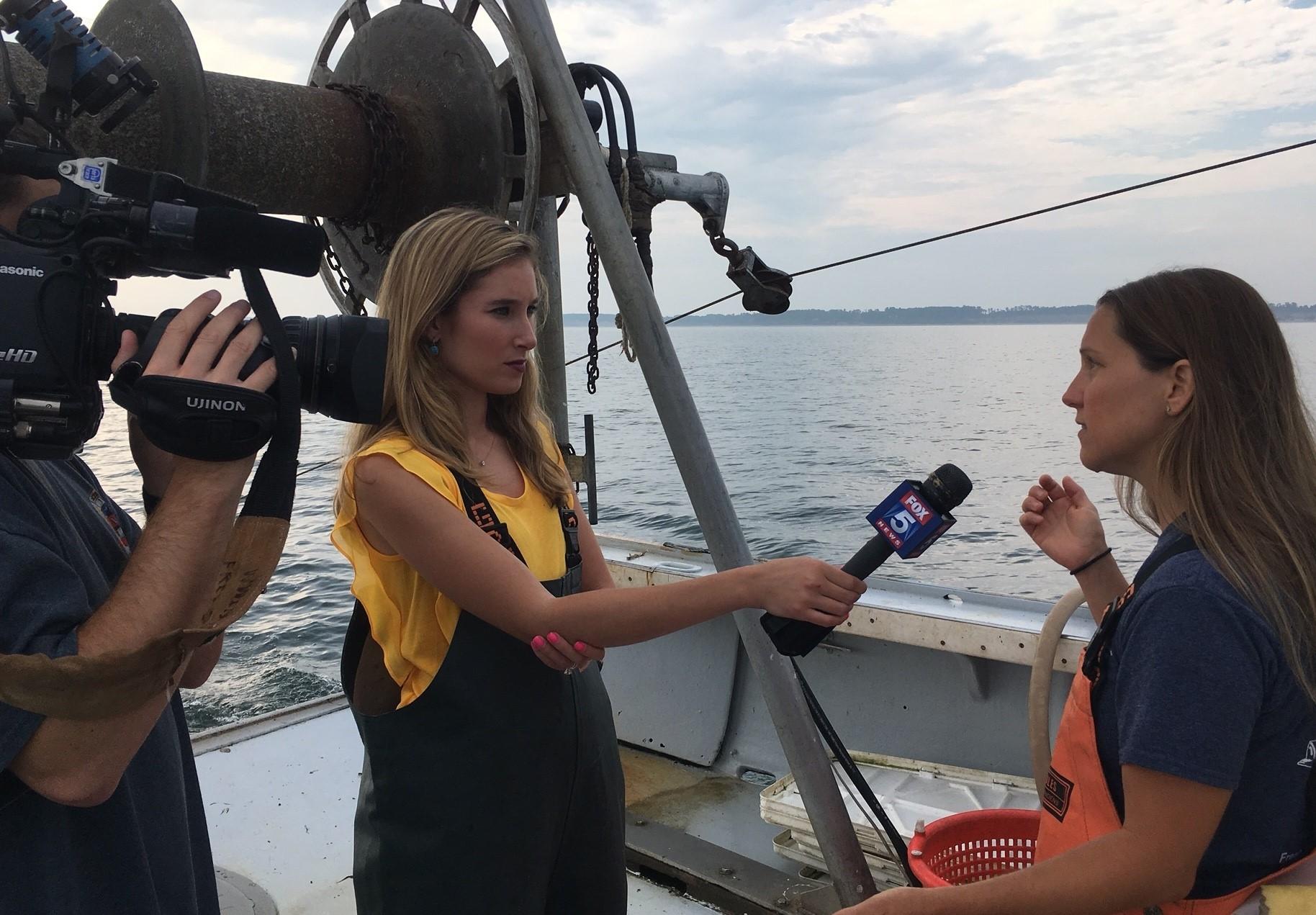 Fox 5's Jodi Goldberg interviews CCE's Kristen Gerbino