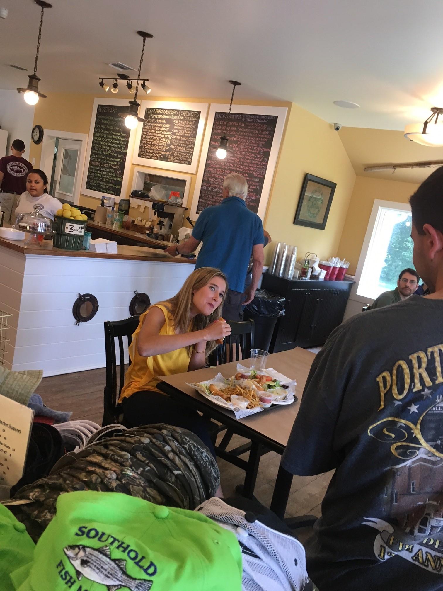 Fox 5's Jodi Goldberg taking a bite!