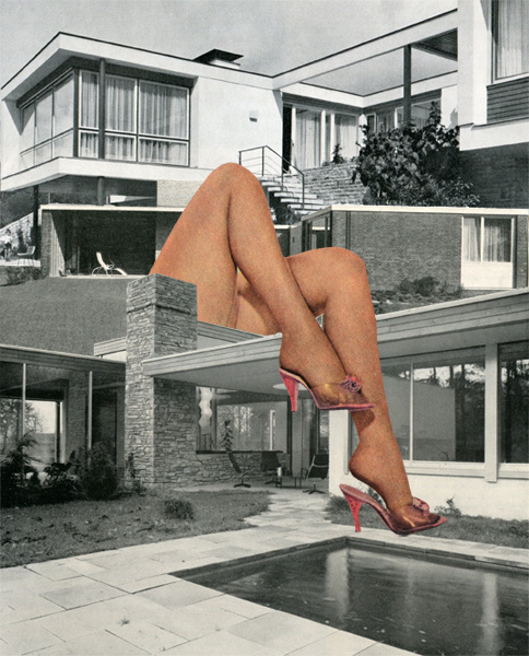 House of fun - Collage sur papier - 25 x 30 cm
