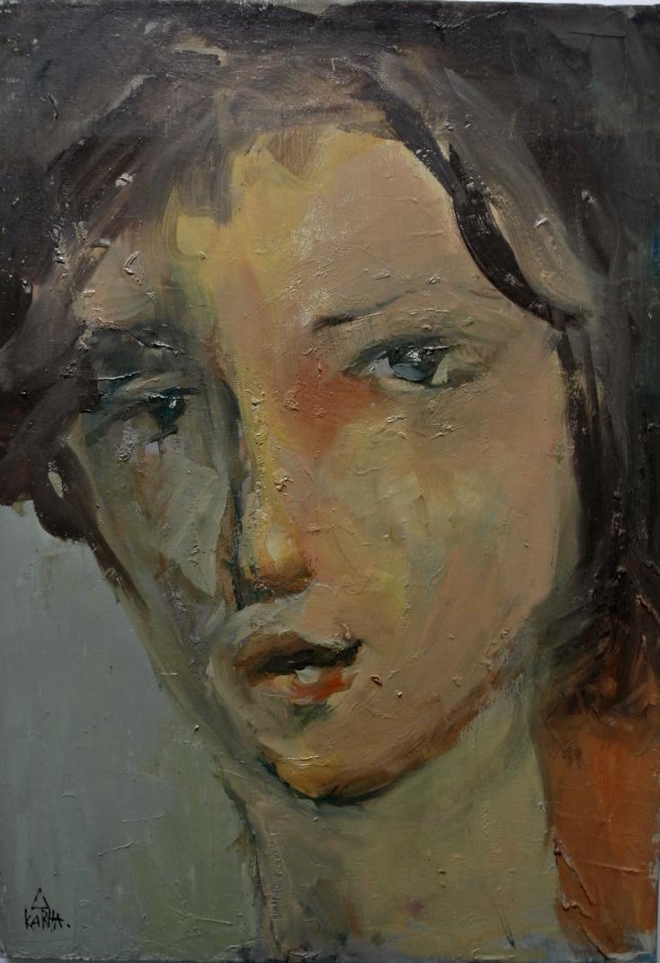 Karha Nizharadze - 50 x 70 cm - Olie op doek