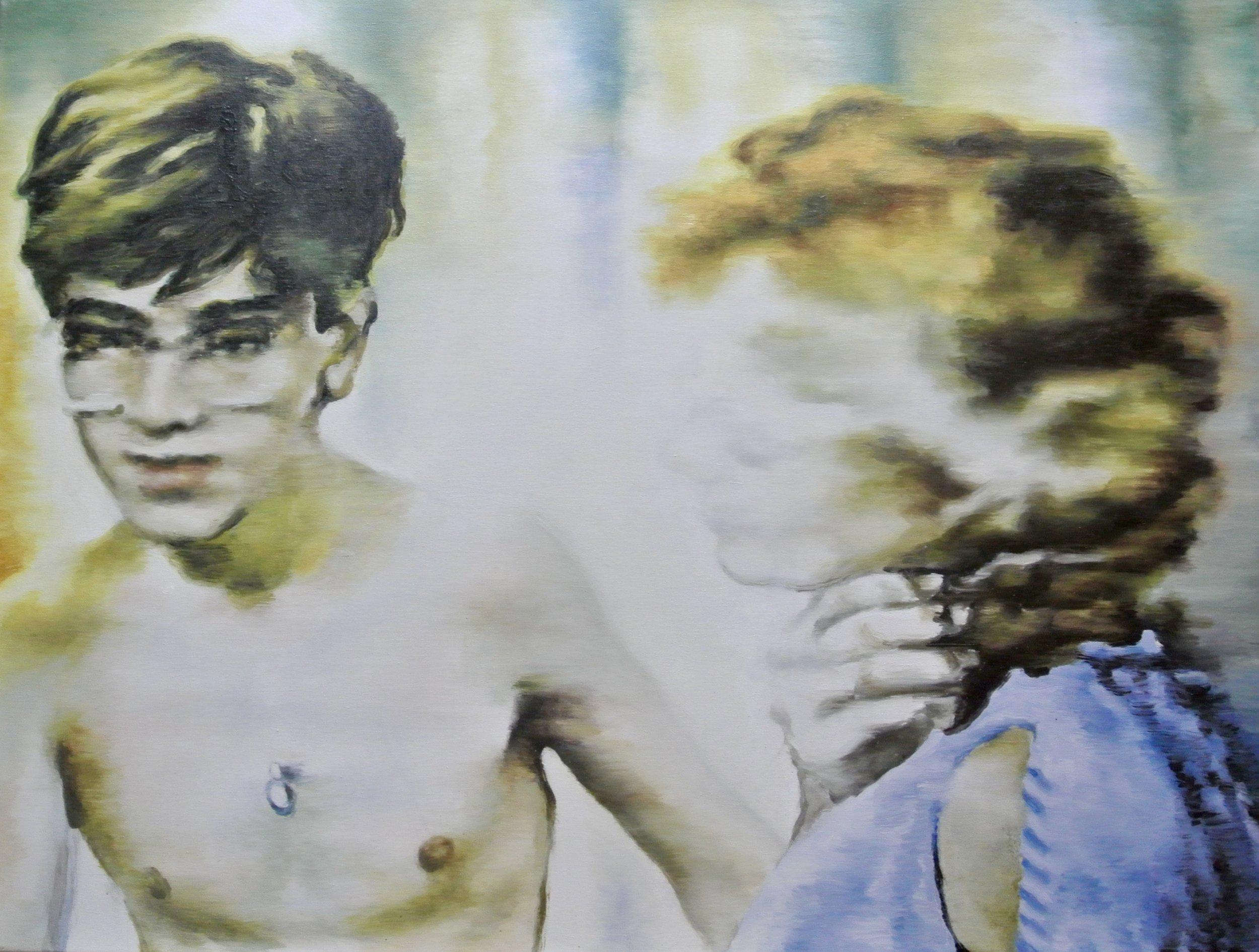 Bleaching the past - Oil sur toile - 60 x 80 cm