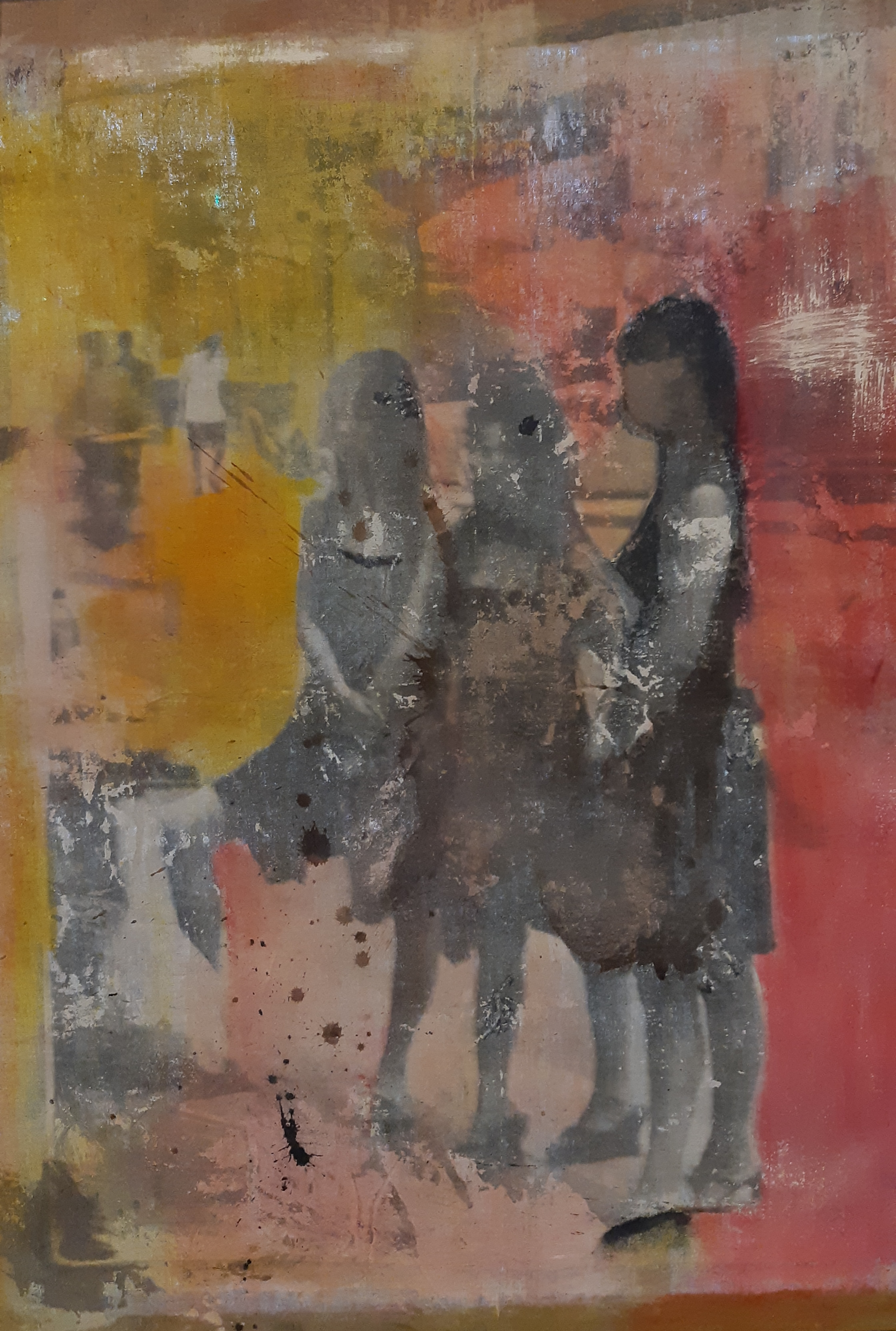Najing Road - 2018 - Photo emulsion, pigments sur toile